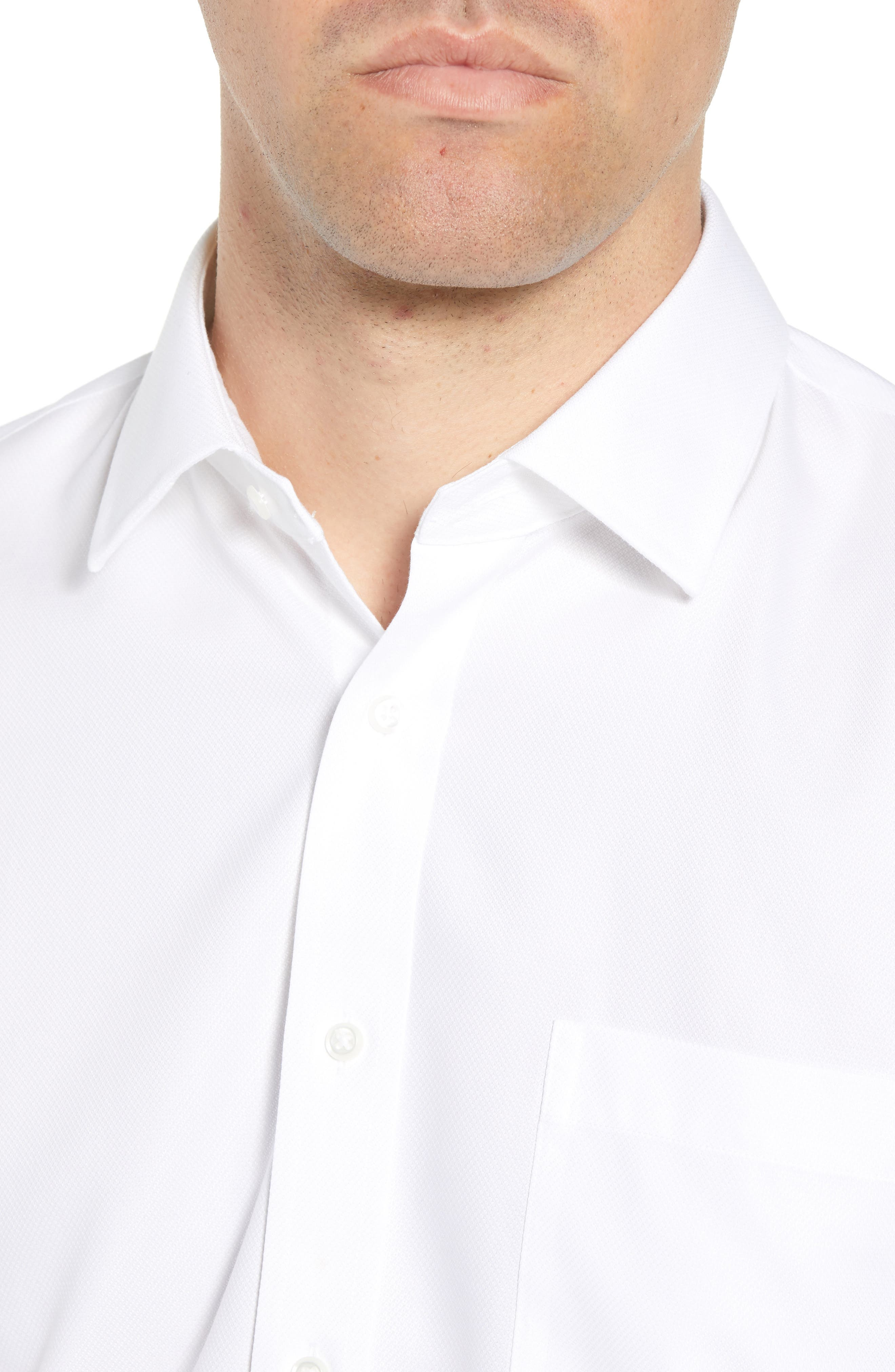 Smartcare<sup>™</sup> Trim Fit Solid Dress Shirt,                             Alternate thumbnail 2, color,                             White