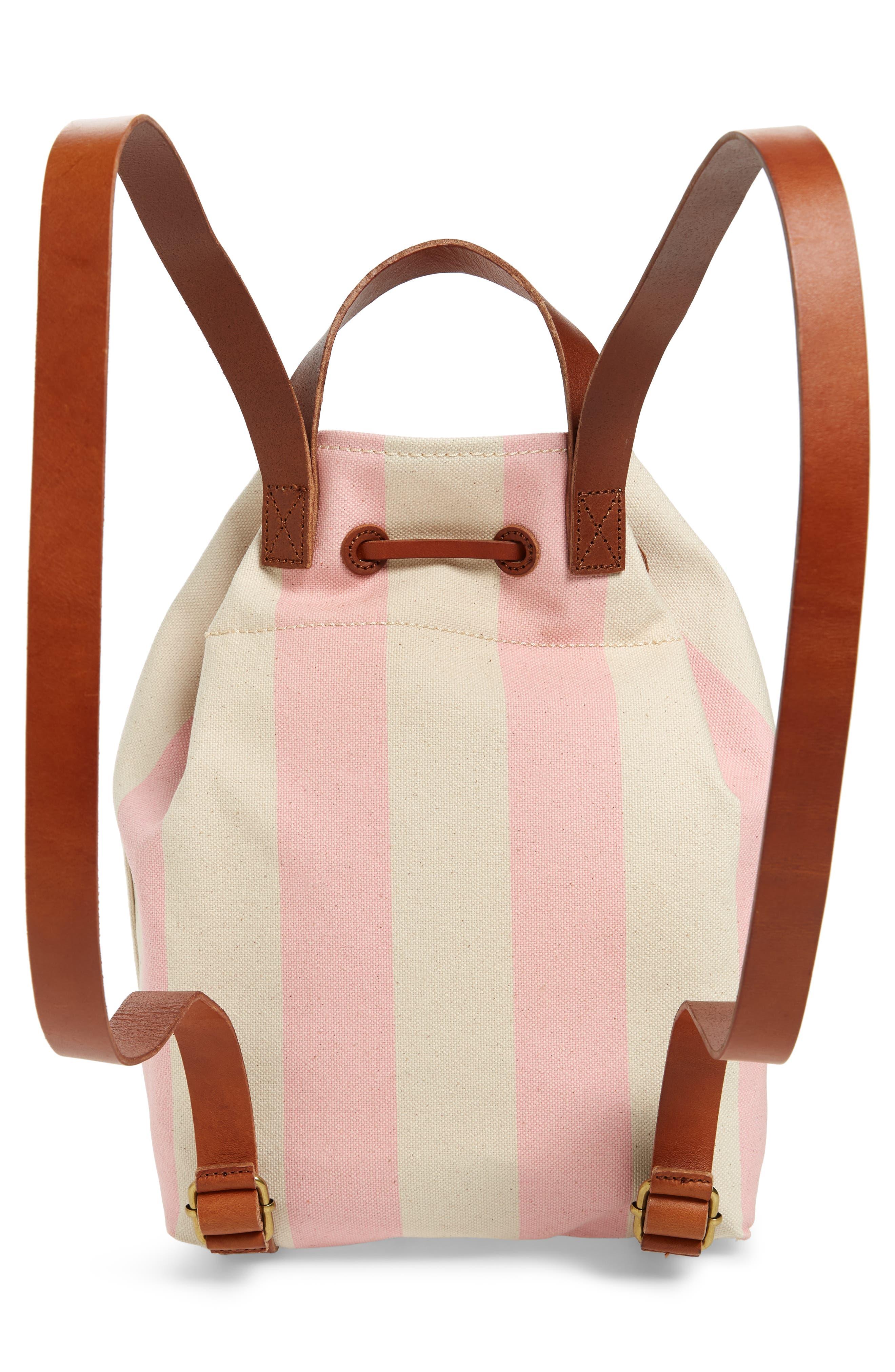 Somerset Canvas Backpack,                             Alternate thumbnail 3, color,                             Petal Pink Stripe