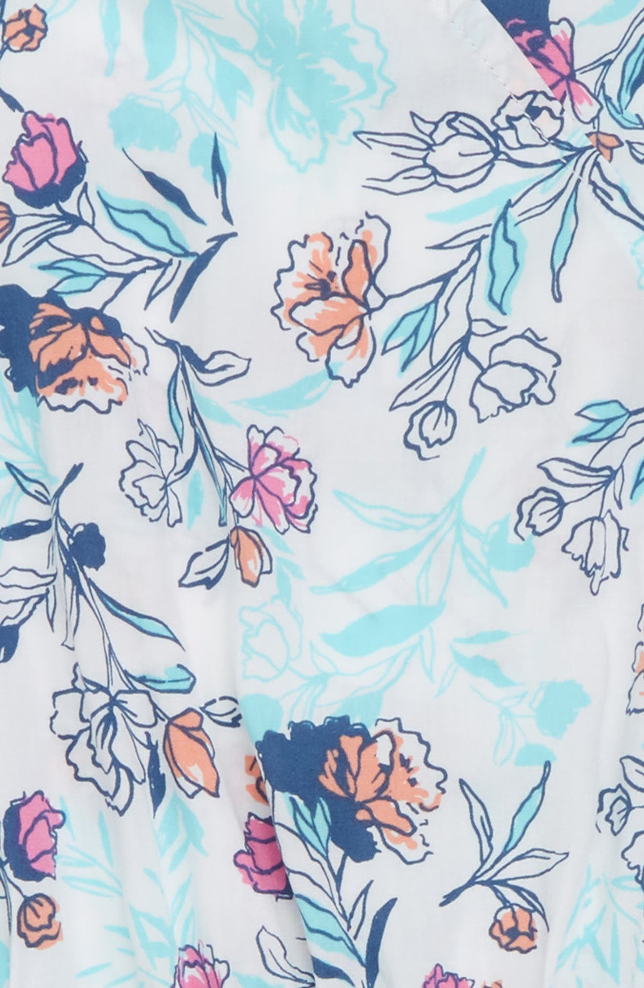 Floral Print Romper,                             Alternate thumbnail 2, color,                             Off White
