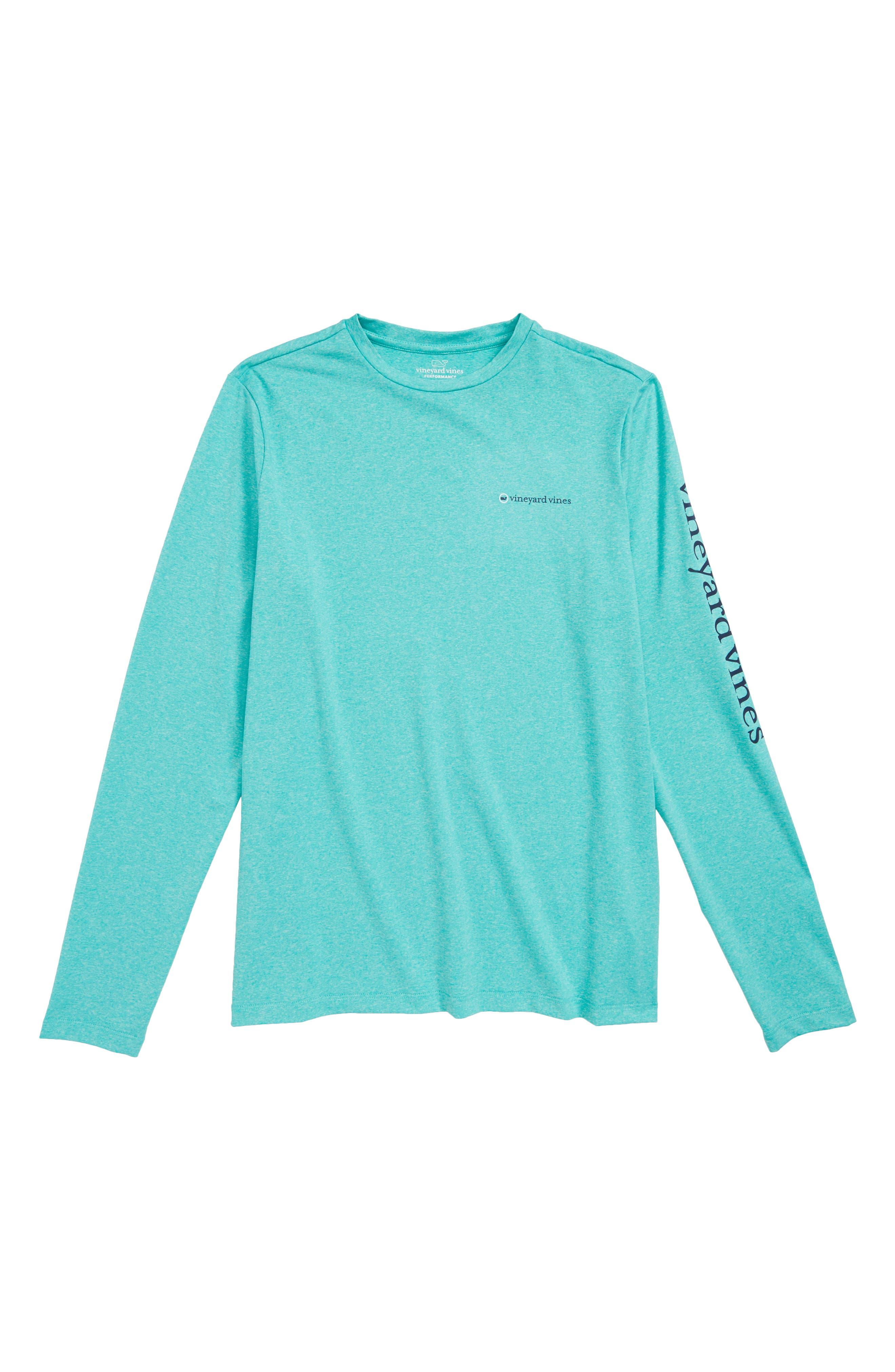 Performance Sport T-Shirt,                             Main thumbnail 1, color,                             Aquinnah Aqua