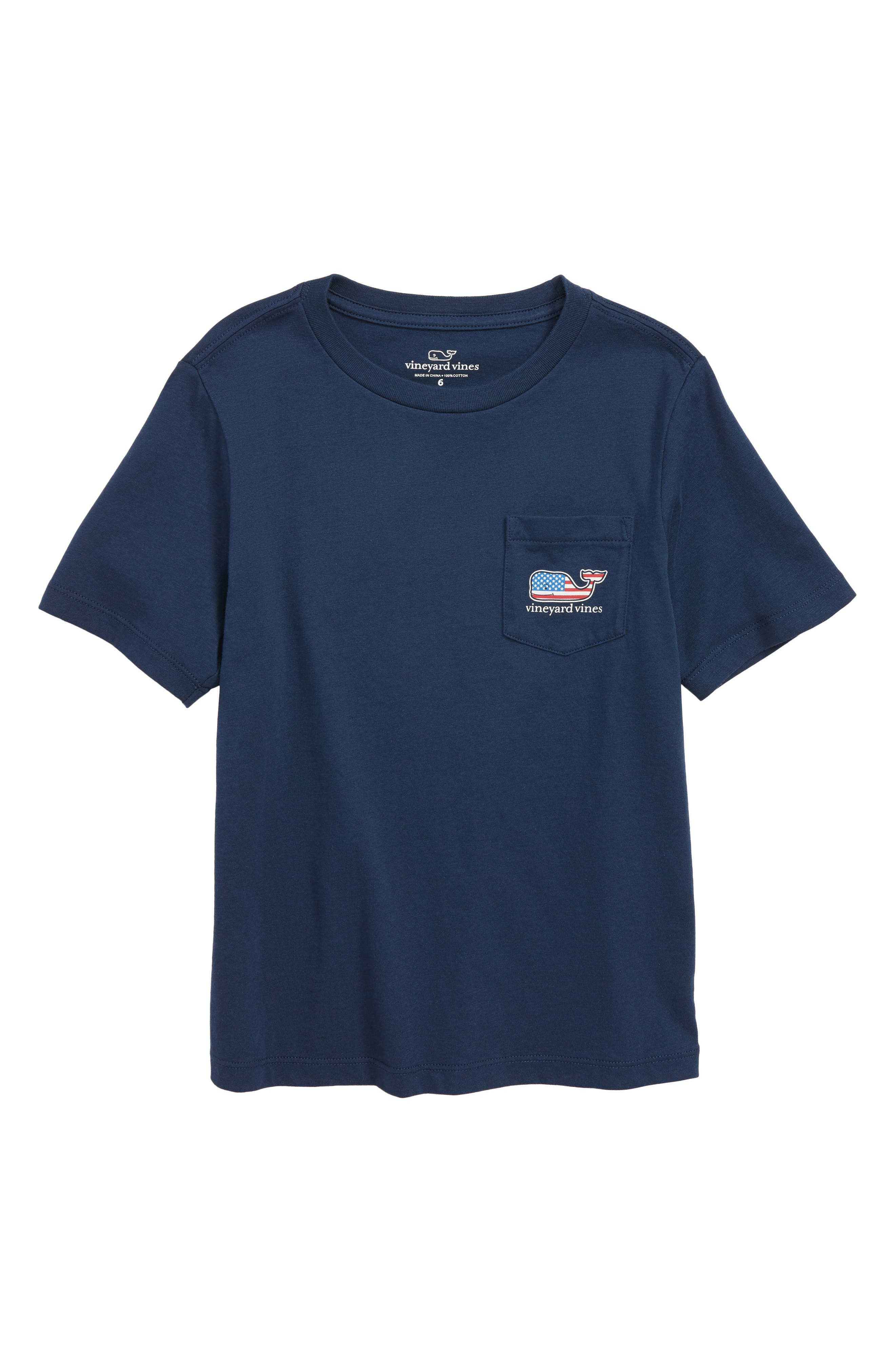 vineyard vines Flag Whale Pocket T-Shirt (Toddler Boys & Little Boys)