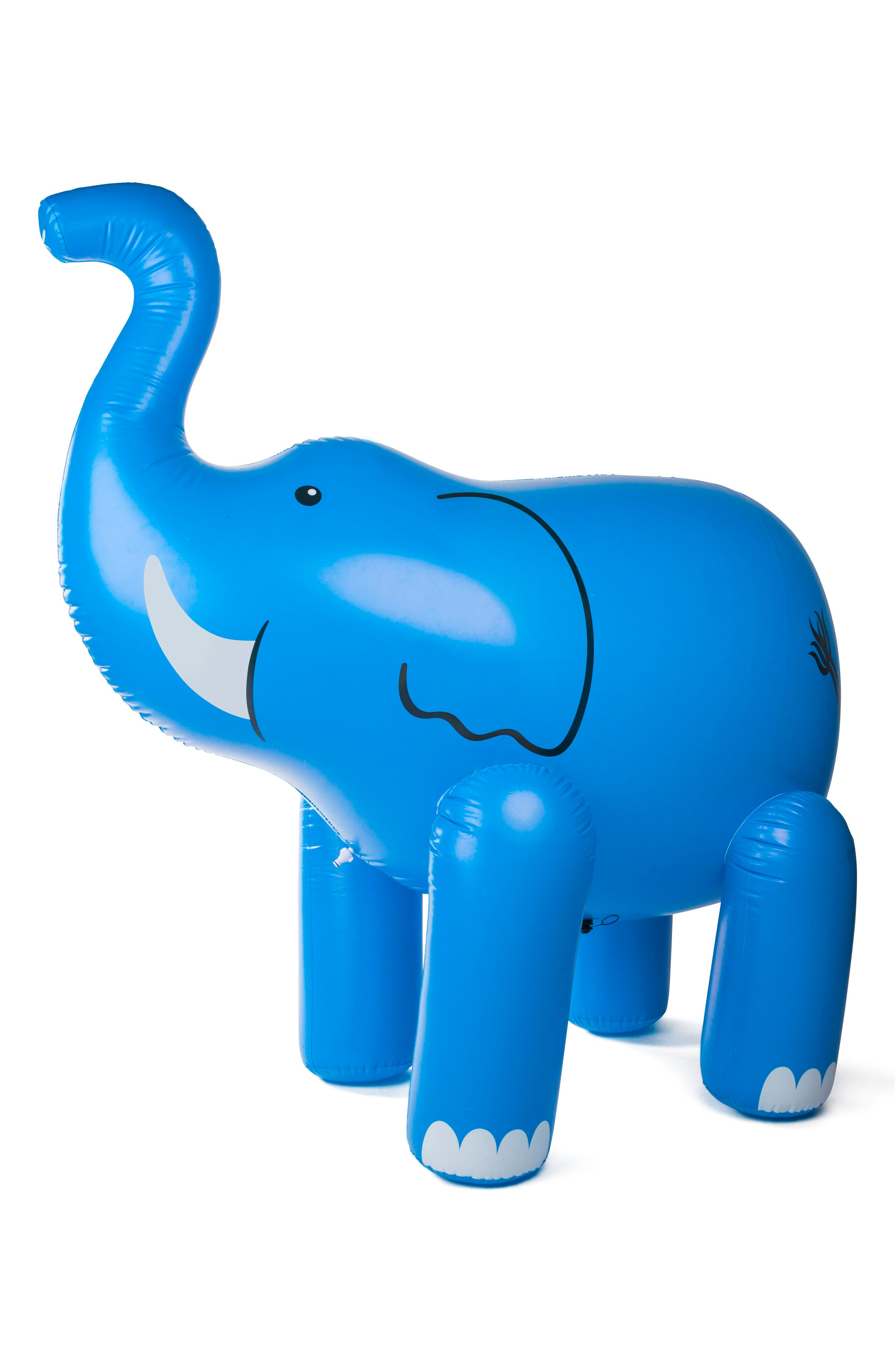 Elephant Inflatable Yard Sprinkler,                             Main thumbnail 1, color,                             Blue