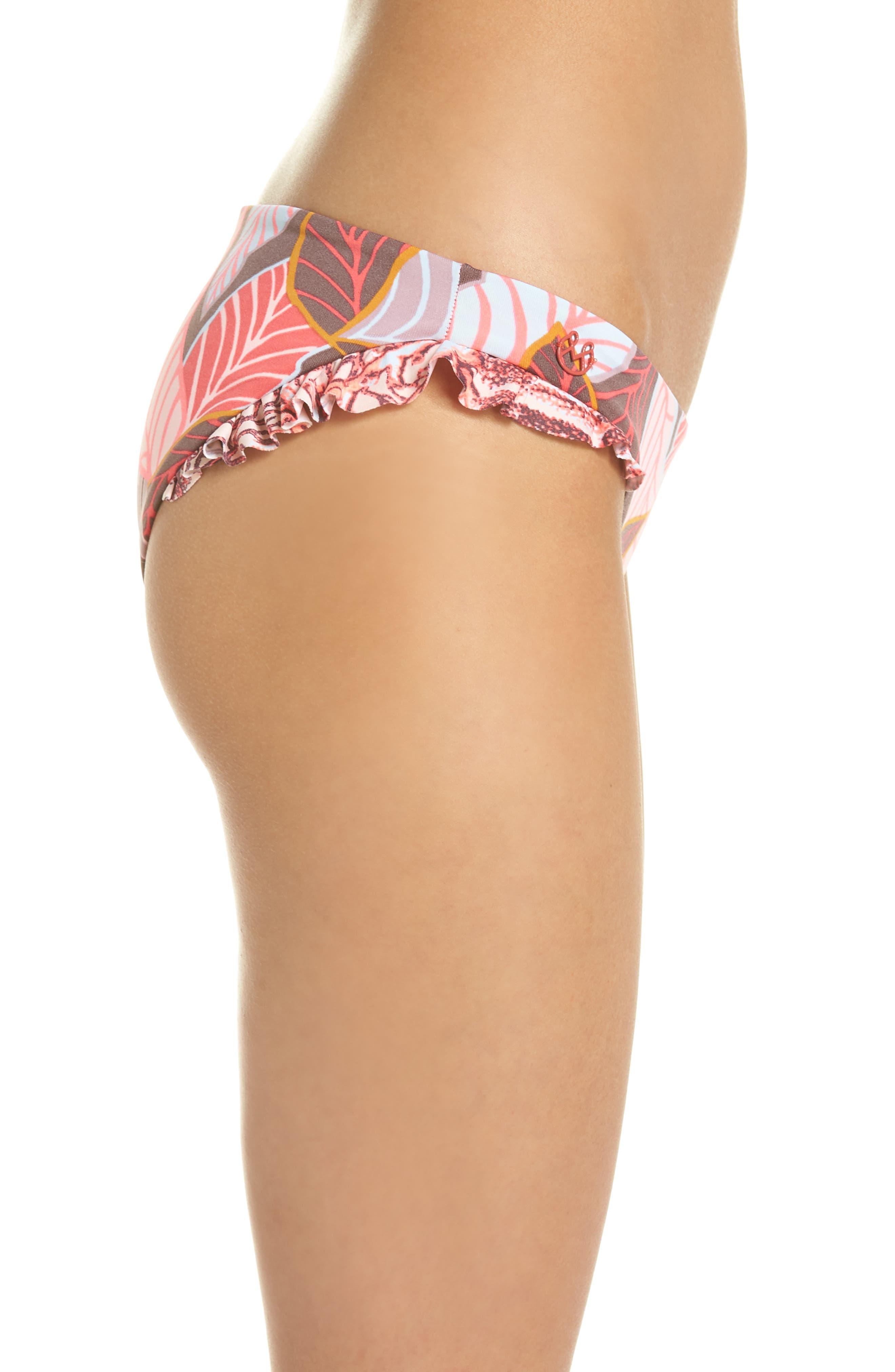 Andalusia Frills Bikini Bottoms,                             Alternate thumbnail 4, color,                             Red Multi