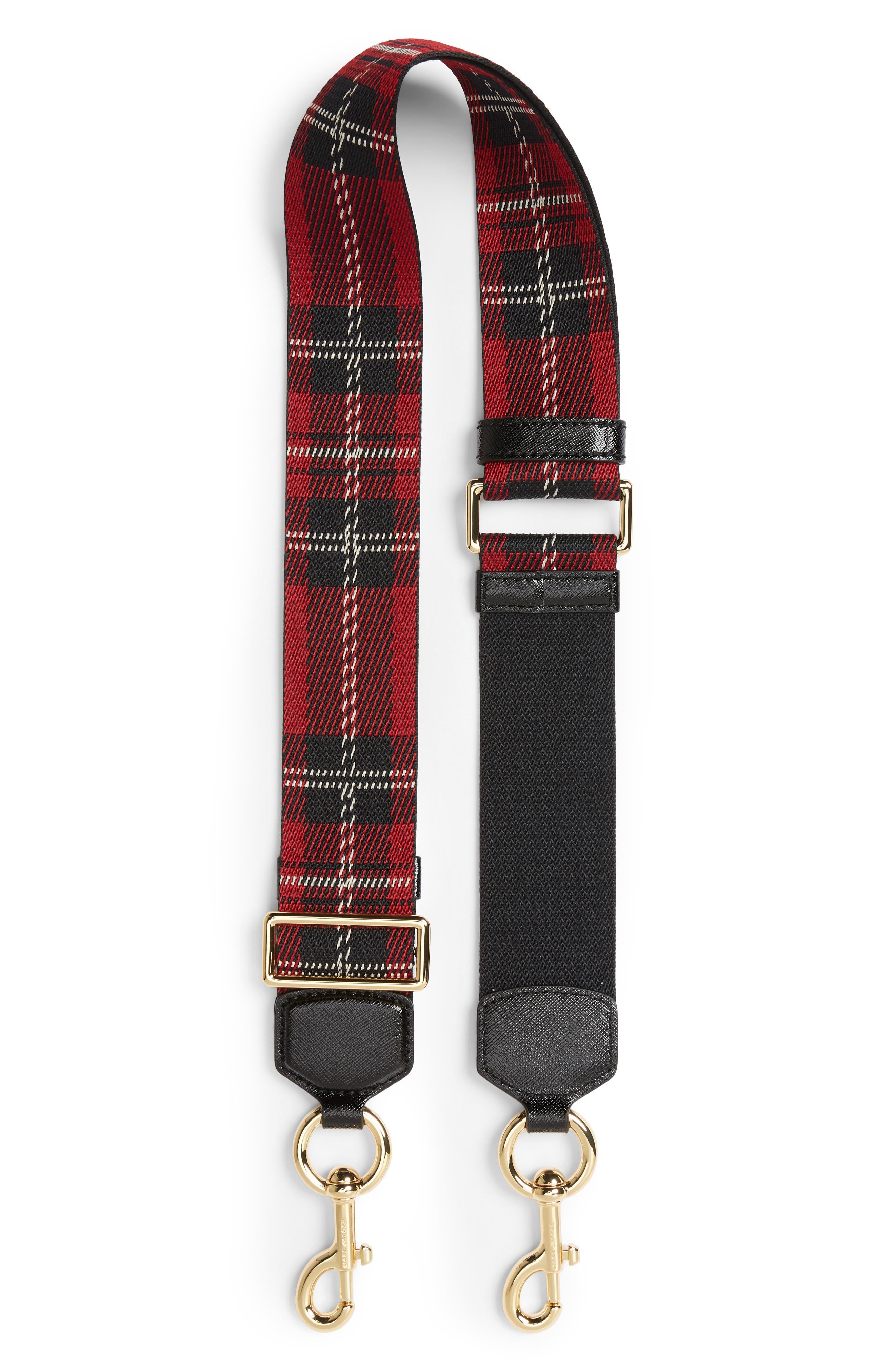 Tartan Plaid Guitar Bag Strap,                         Main,                         color, Red Multi