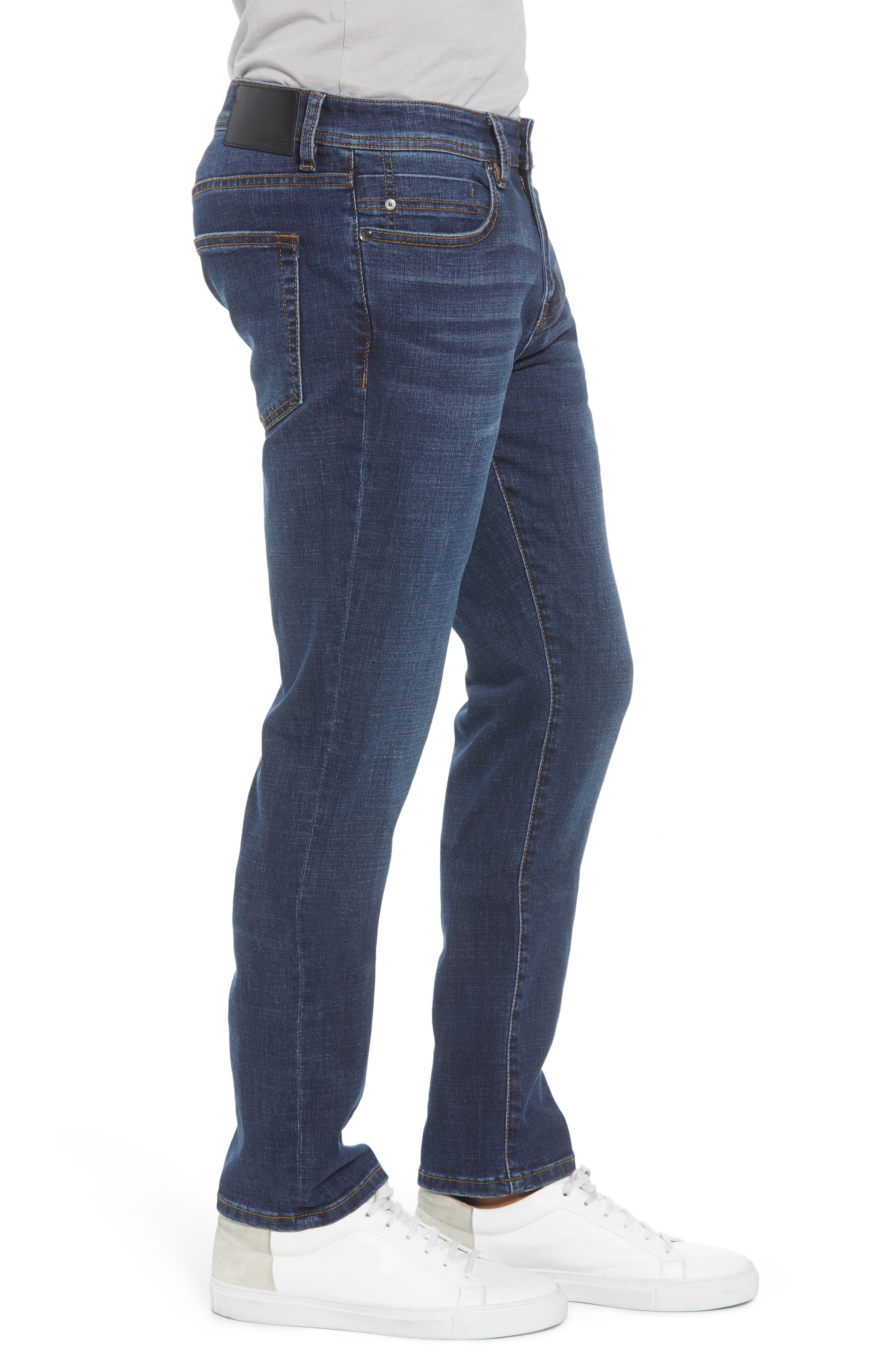 Slim Straight Leg Jeans,                             Alternate thumbnail 3, color,                             Navajo Dark
