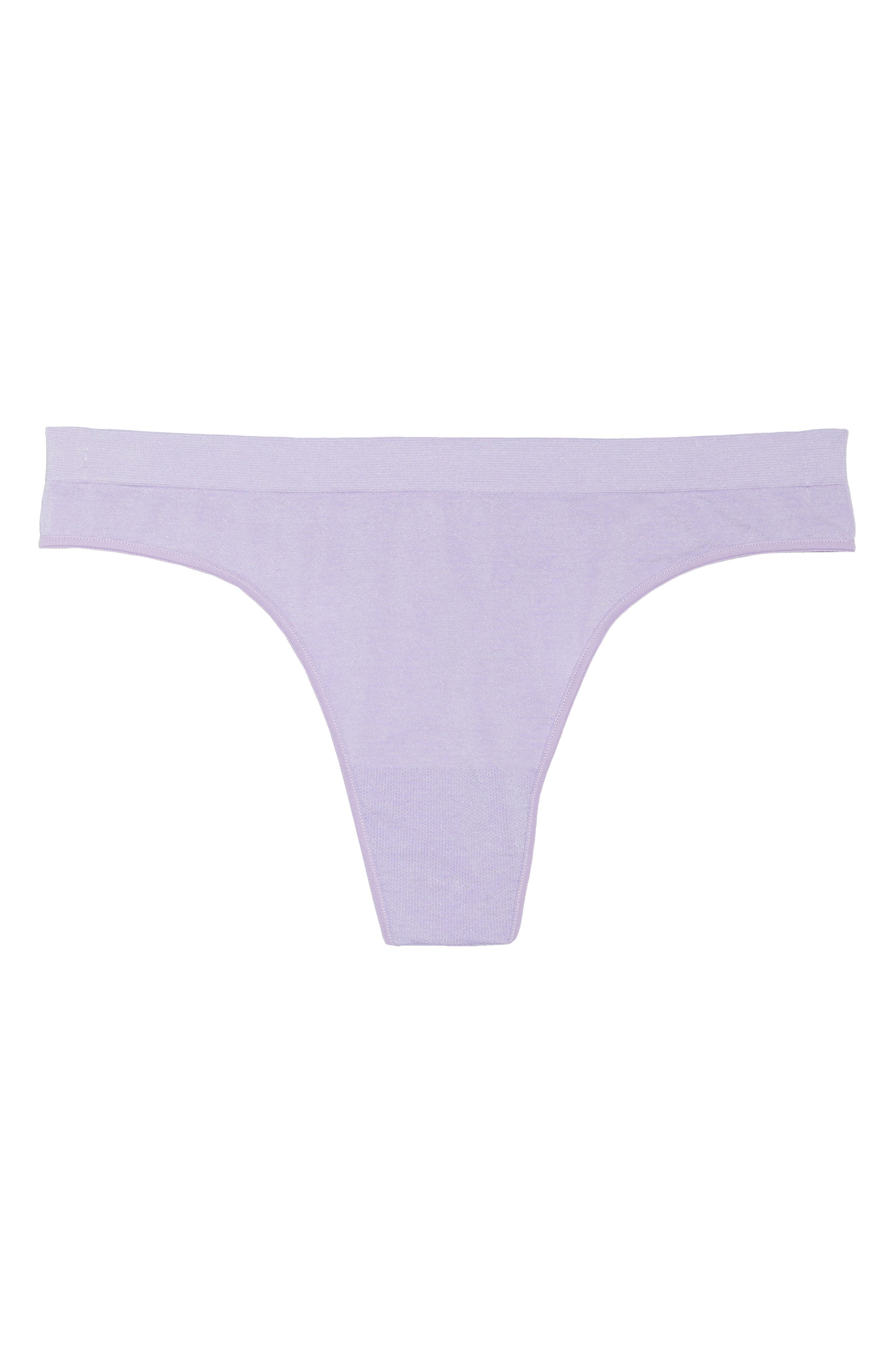Stretch Thong,                             Alternate thumbnail 9, color,                             Purple Rose Heather