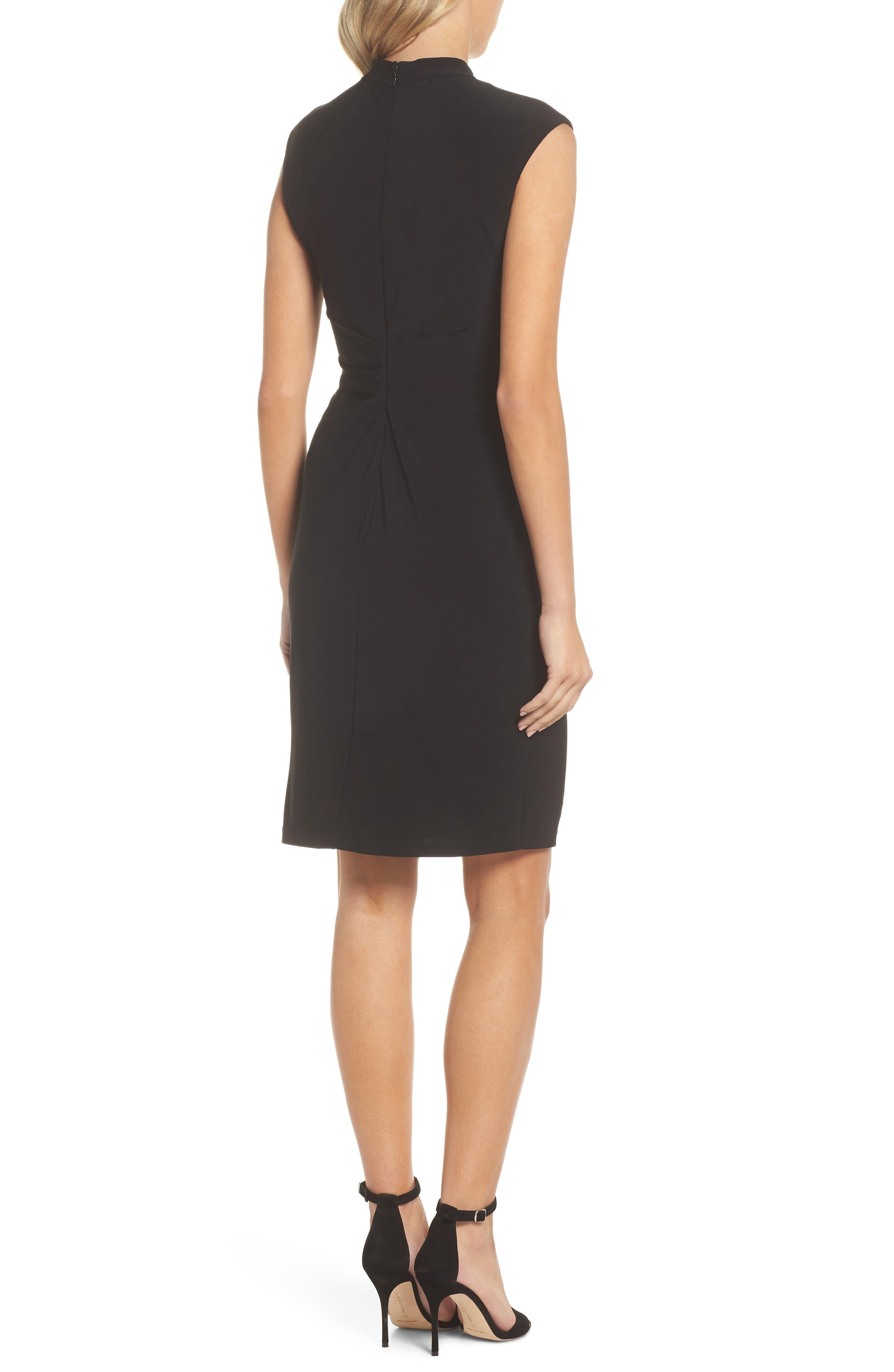 Matte Jersey Sheath Dress,                             Alternate thumbnail 2, color,                             Black