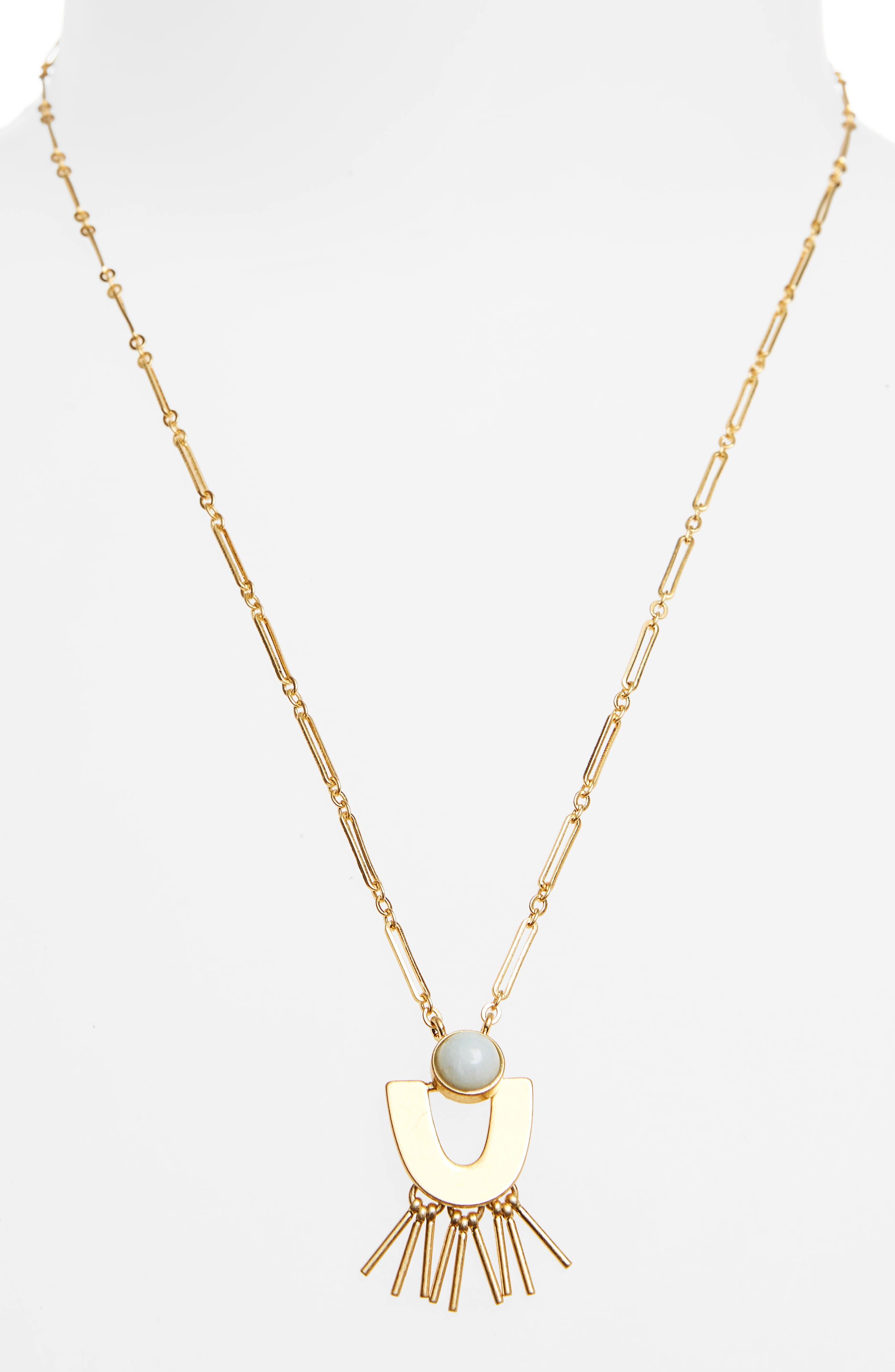 Stone Pendant Necklace,                             Alternate thumbnail 2, color,                             Amazonite