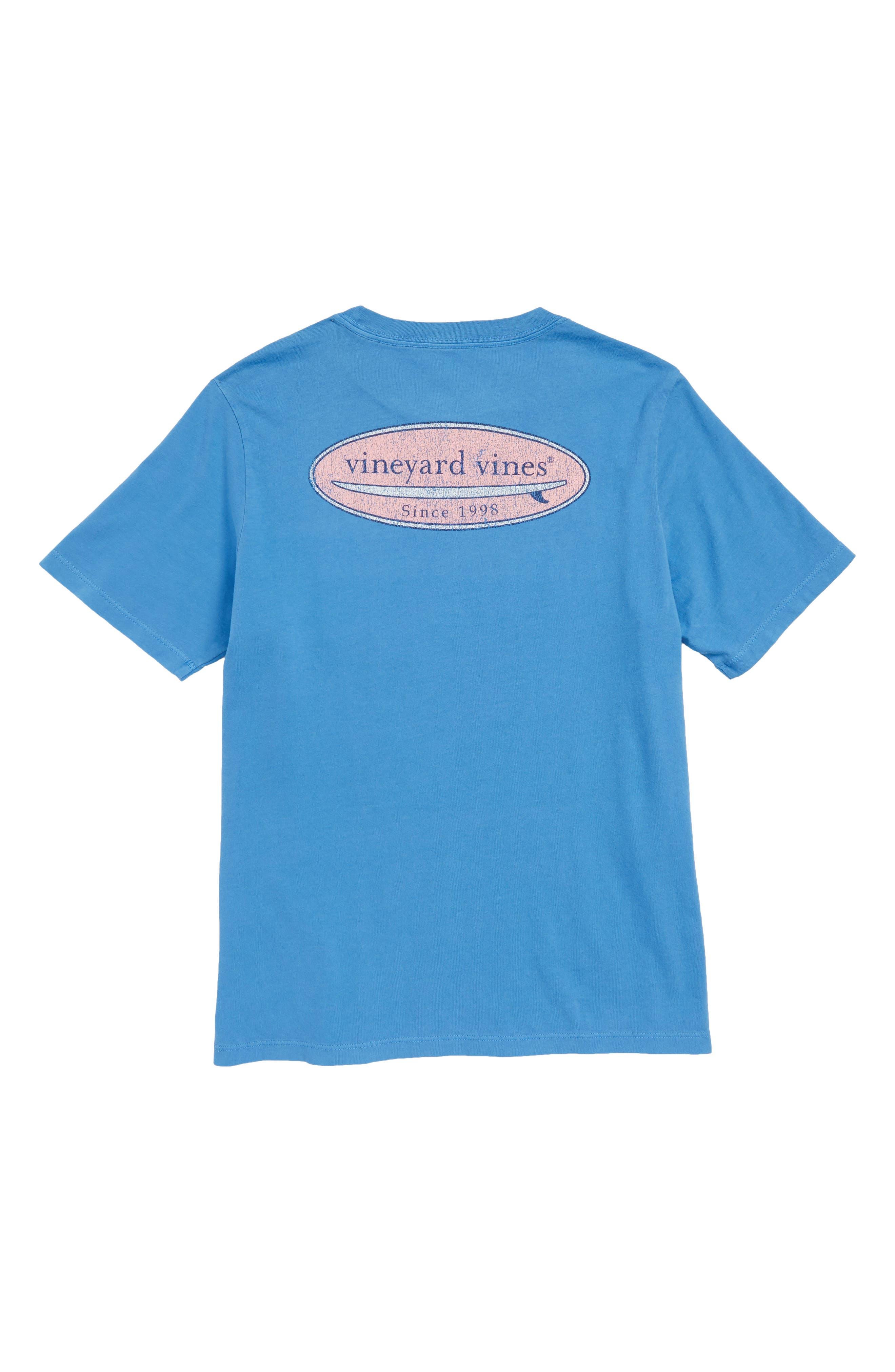 Surf Logo Pocket T-Shirt,                             Alternate thumbnail 2, color,                             Hull Blue