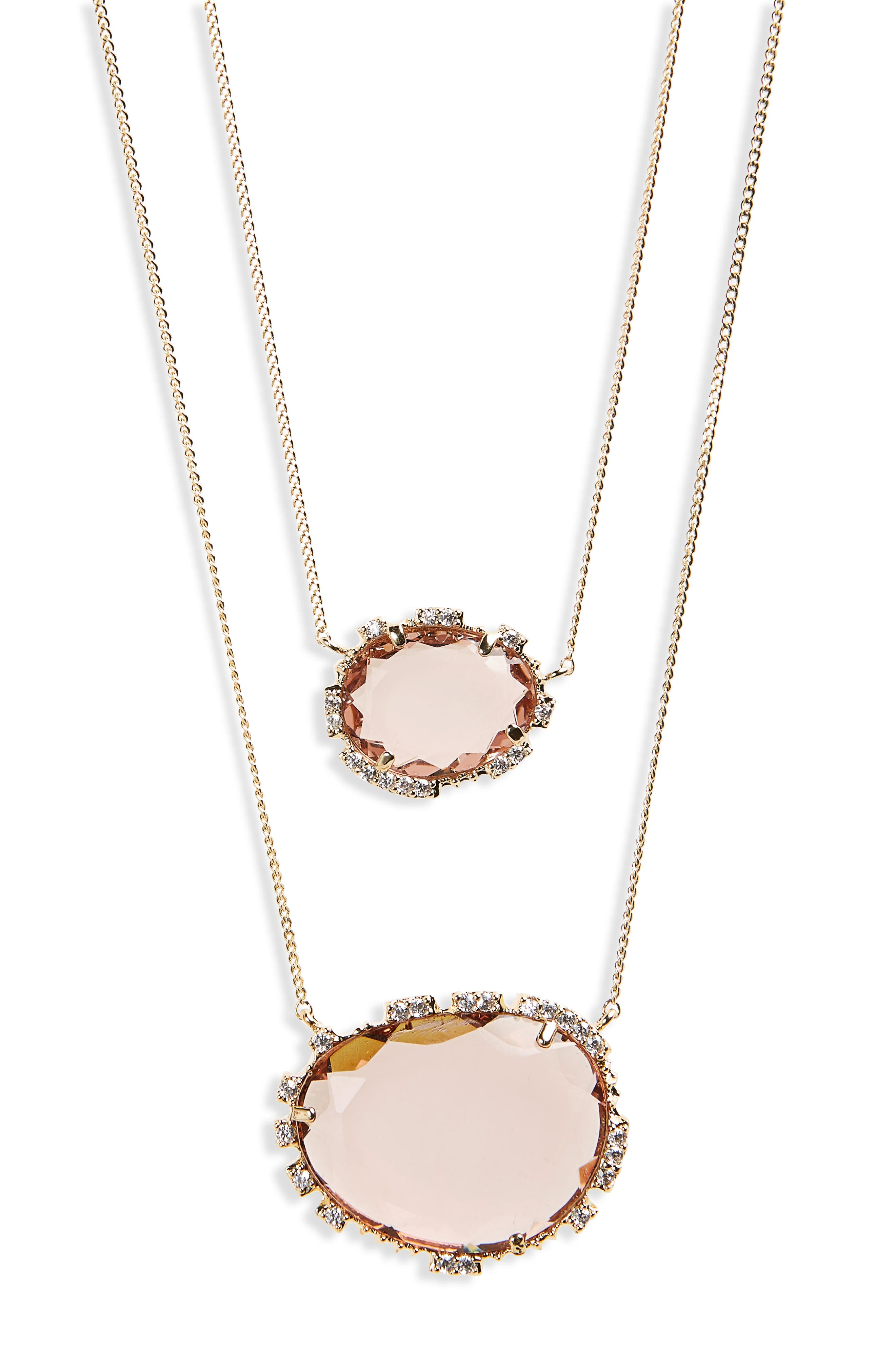 Serefina Crystal Pendant Layered Necklace