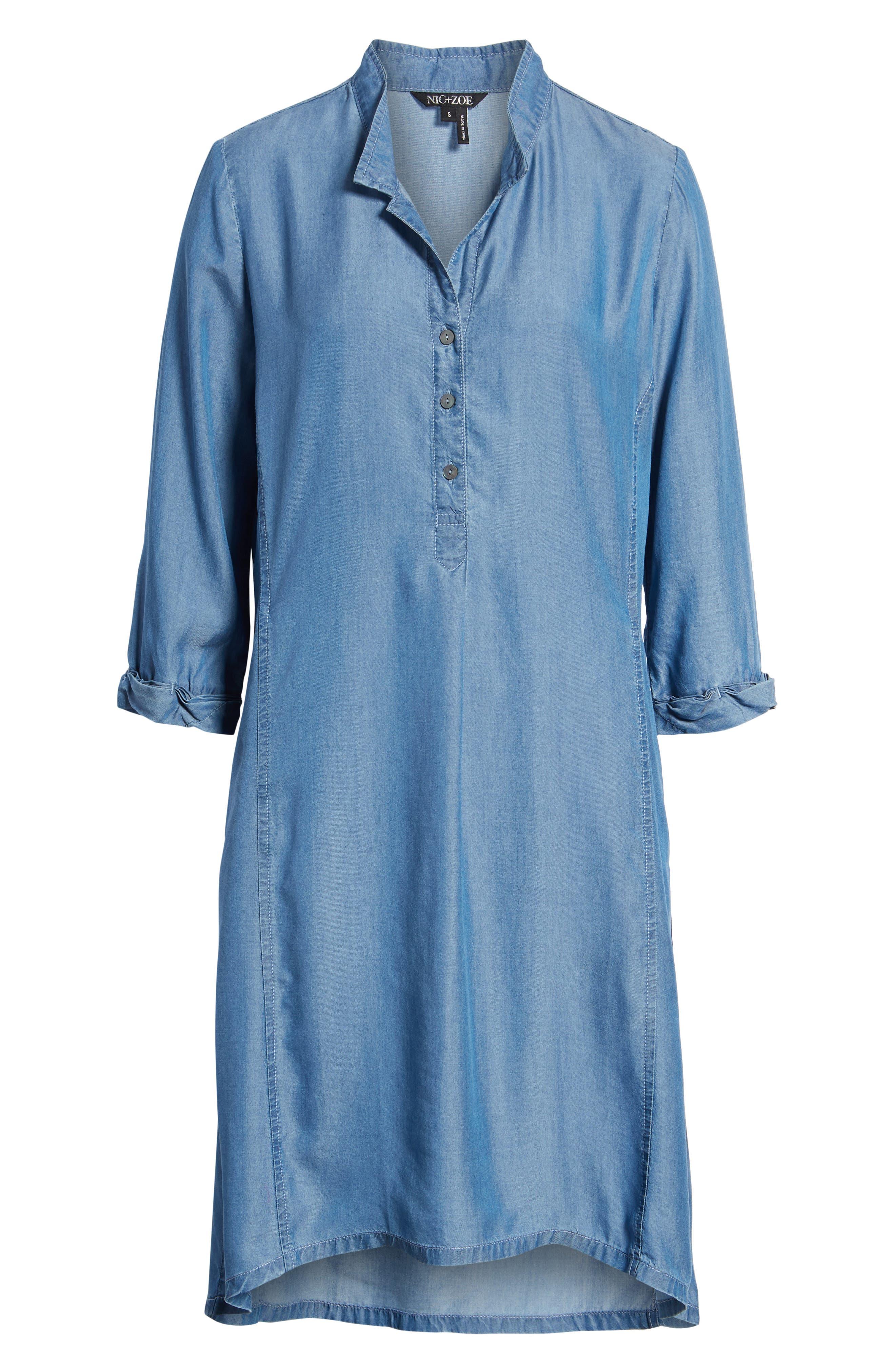 Festival Moonlit Tunic Dress,                             Alternate thumbnail 7, color,                             Blue Haze