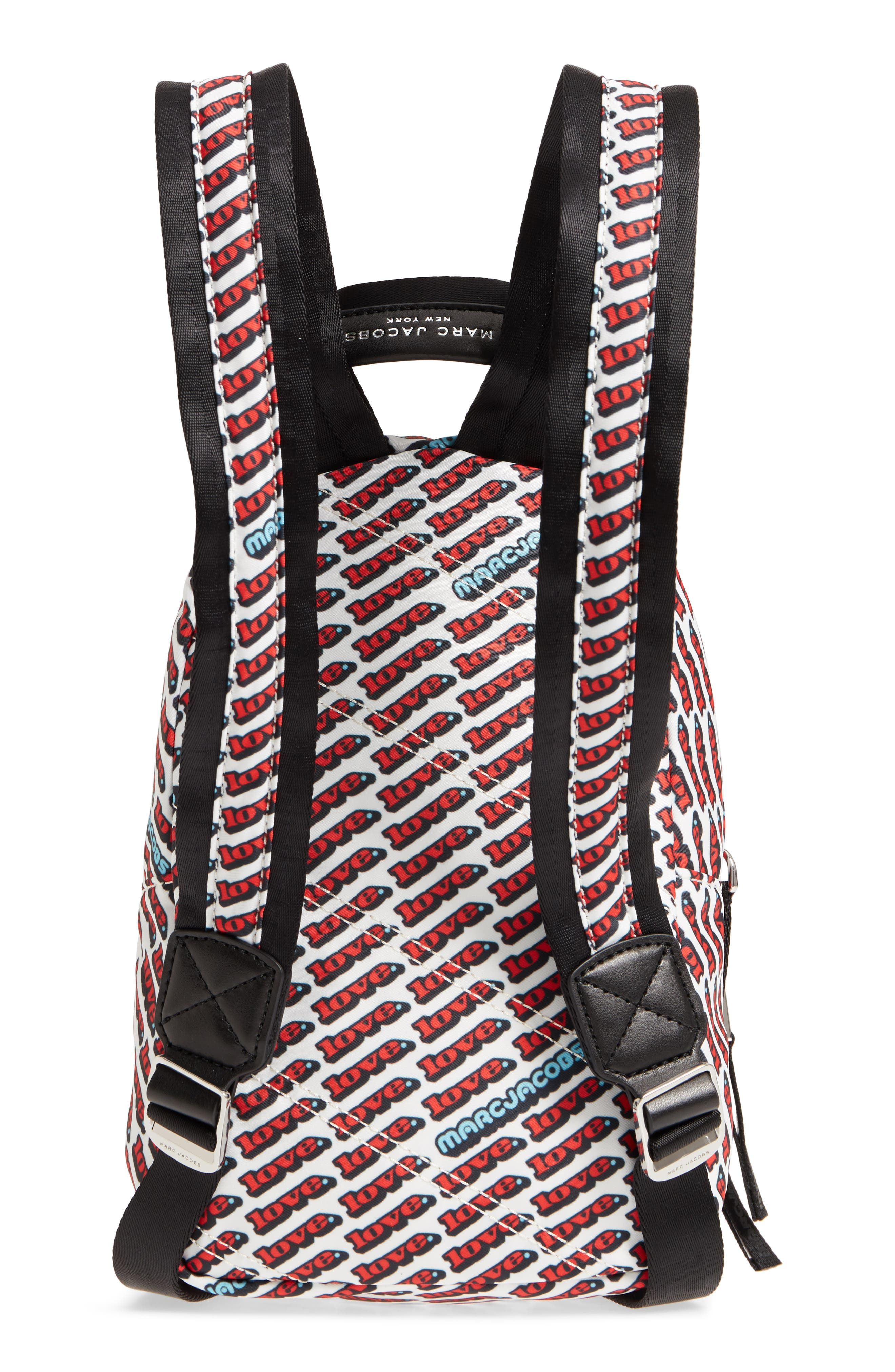 Mini Trek Love Backpack,                             Alternate thumbnail 3, color,                             Red Multi