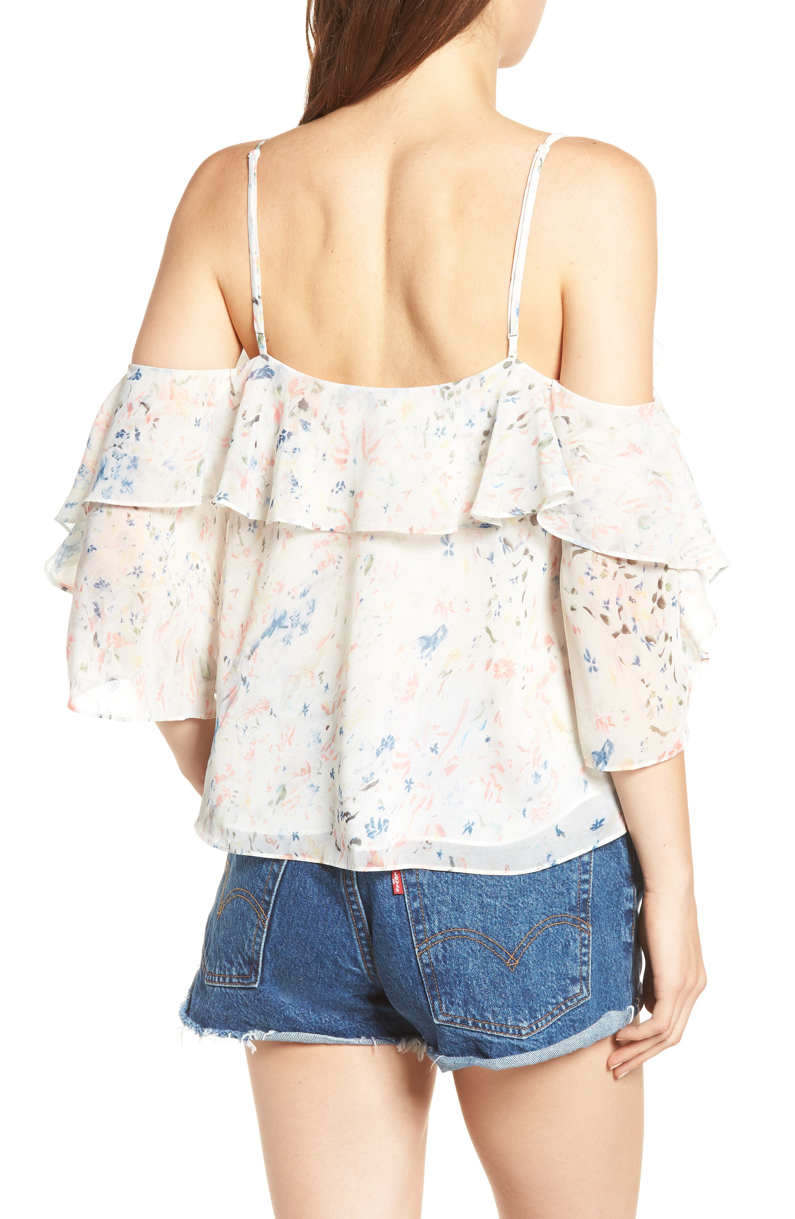 Jasmine Juni Top,                             Alternate thumbnail 2, color,                             Chalk White