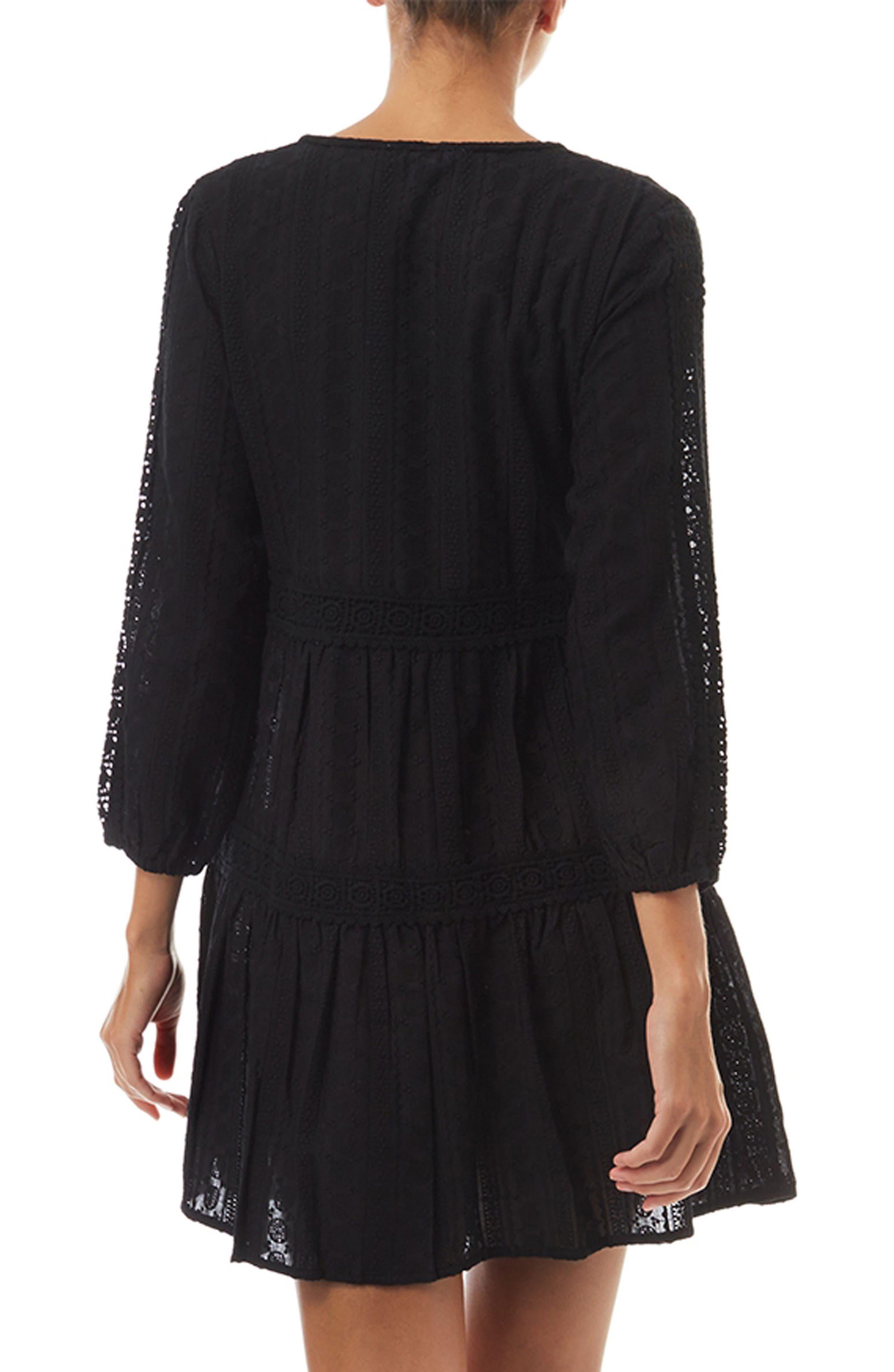 Reid Cover-Up Dress,                             Alternate thumbnail 2, color,                             Black
