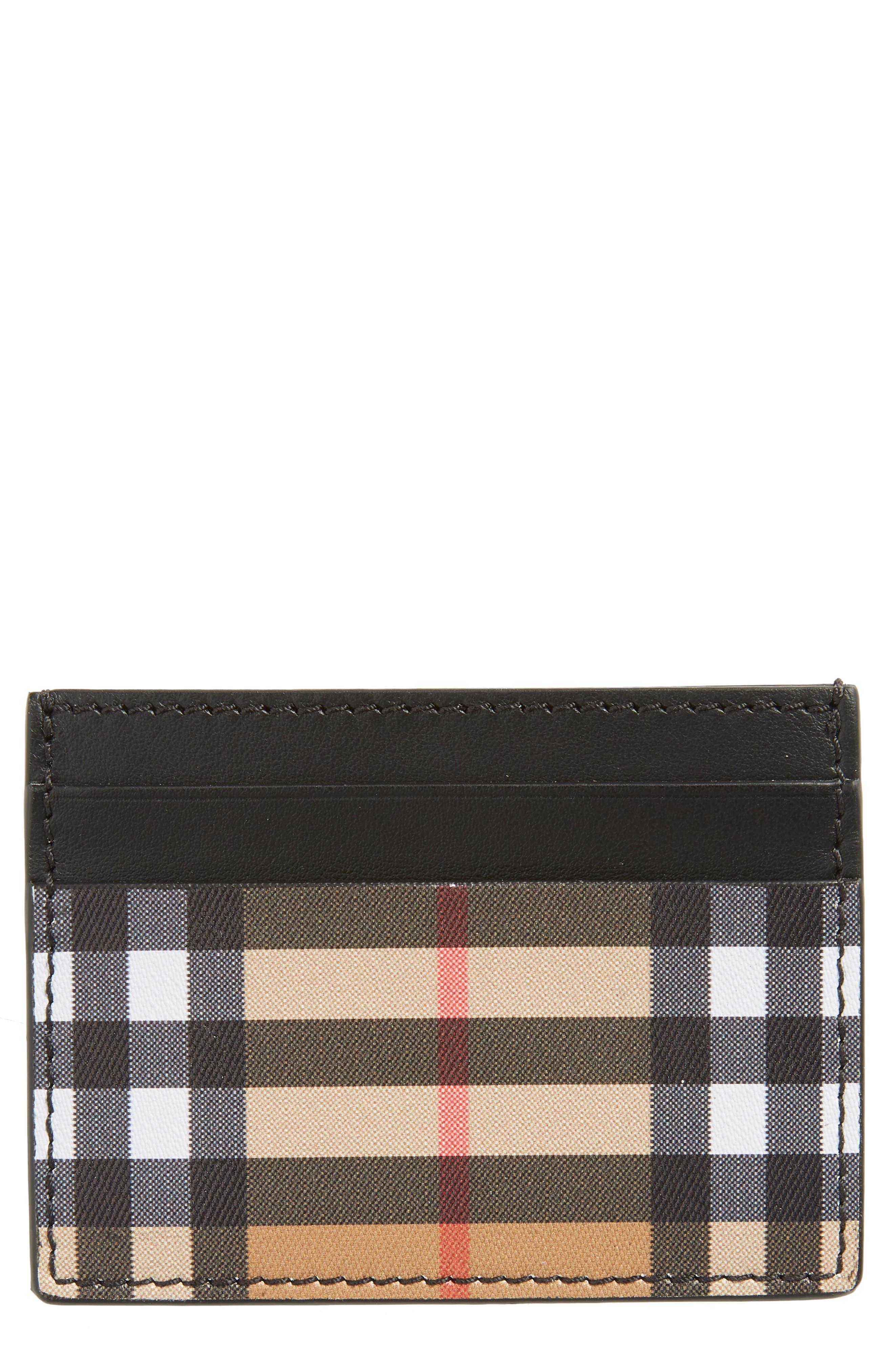 Burberry Sandon Vintage Check Leather Card Case