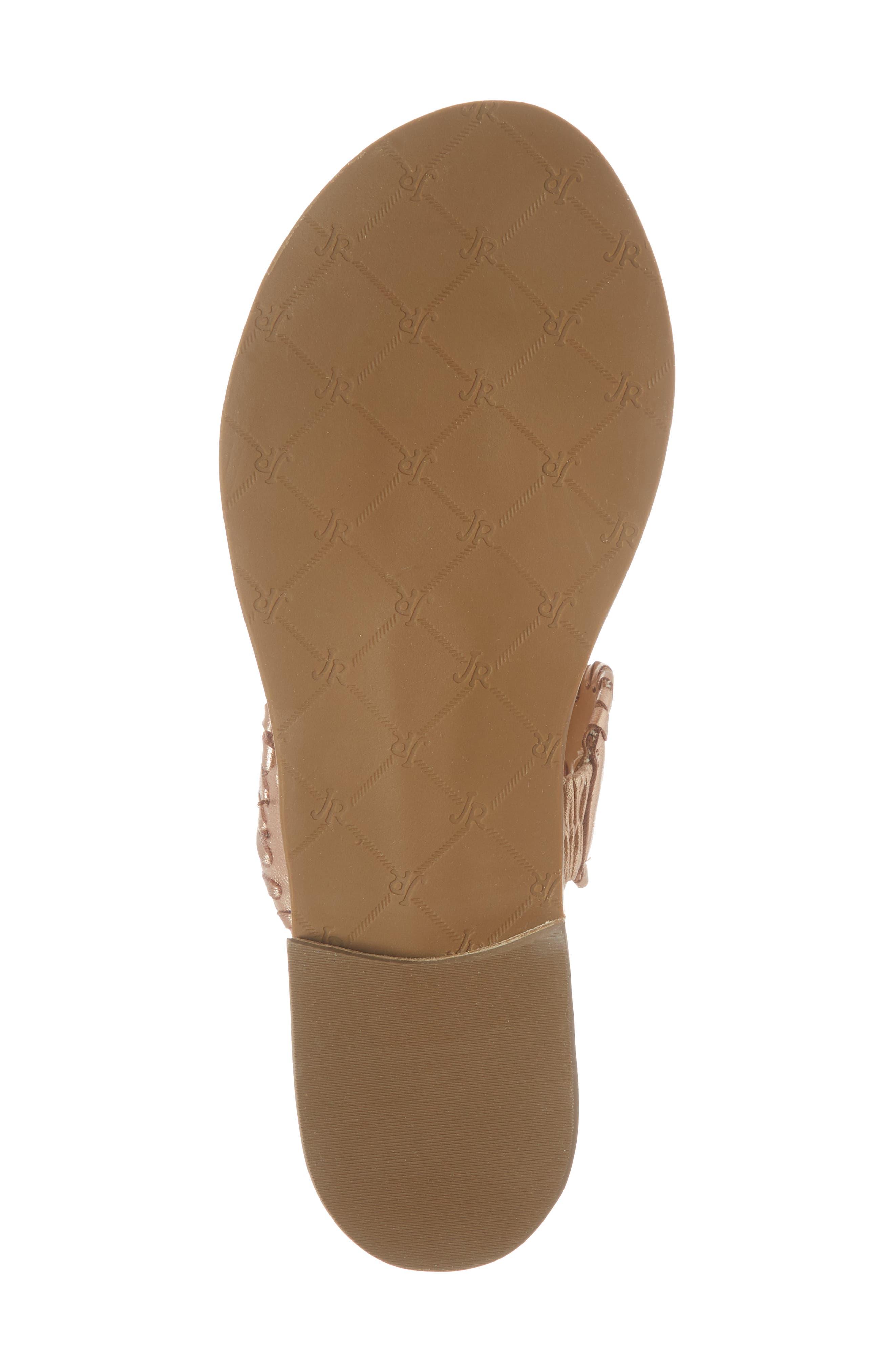 'Lauren' Sandal,                             Alternate thumbnail 6, color,                             Rose Gold Leather