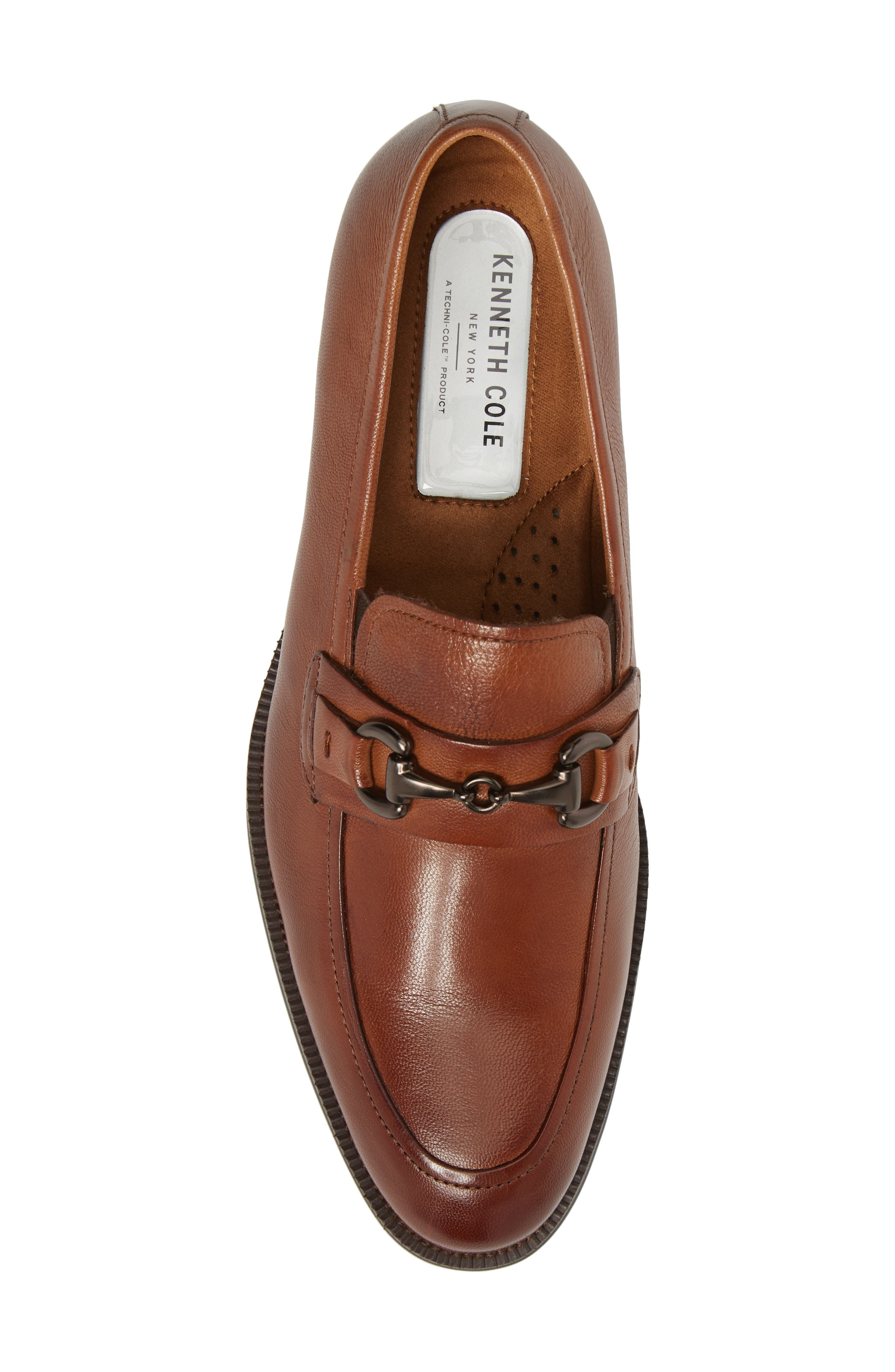 Brock Bit Loafer,                             Alternate thumbnail 5, color,                             Cognac Leather