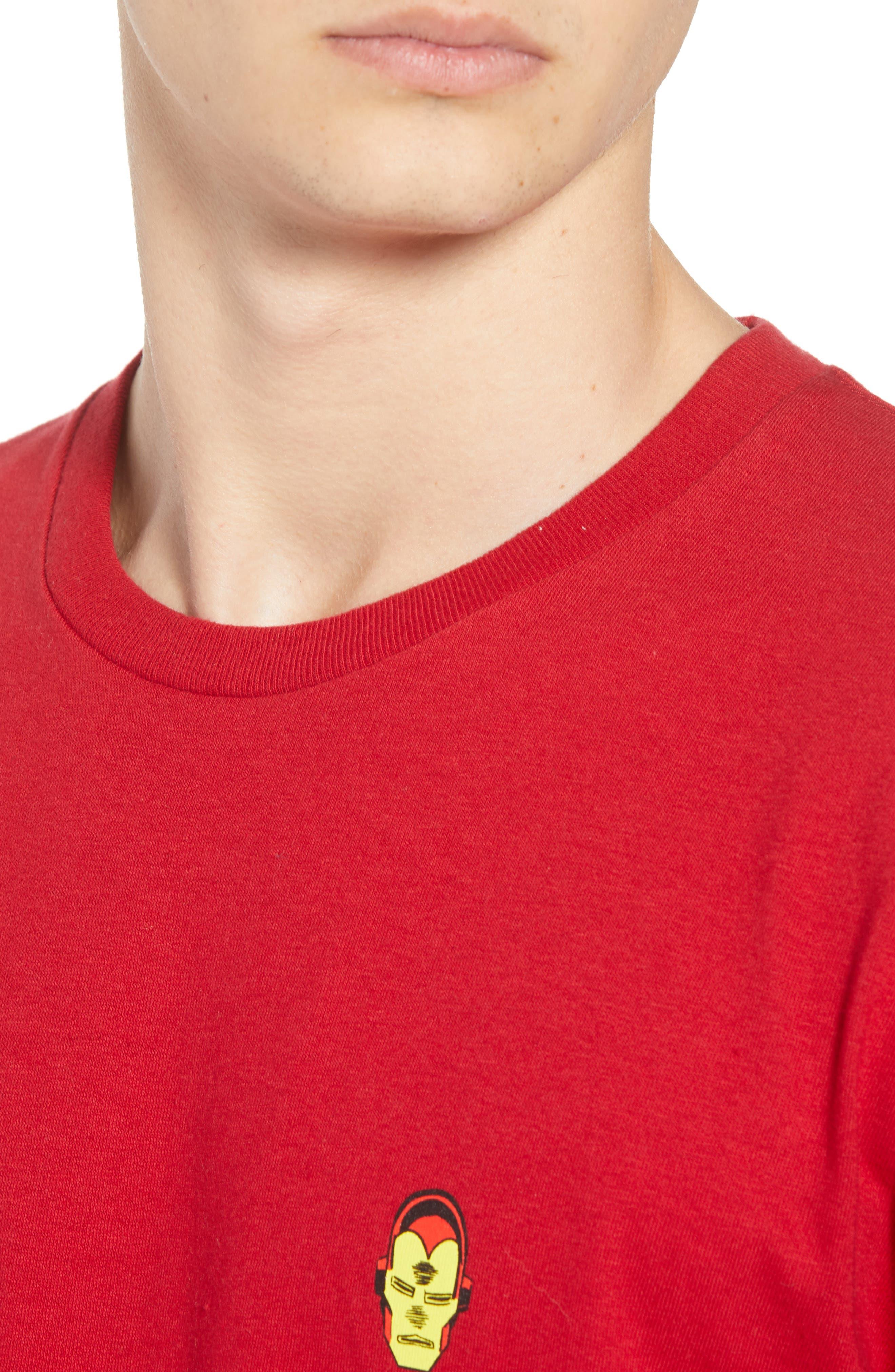 x Marvel<sup>®</sup> Iron Man T-Shirt,                             Alternate thumbnail 4, color,                             Cardinal