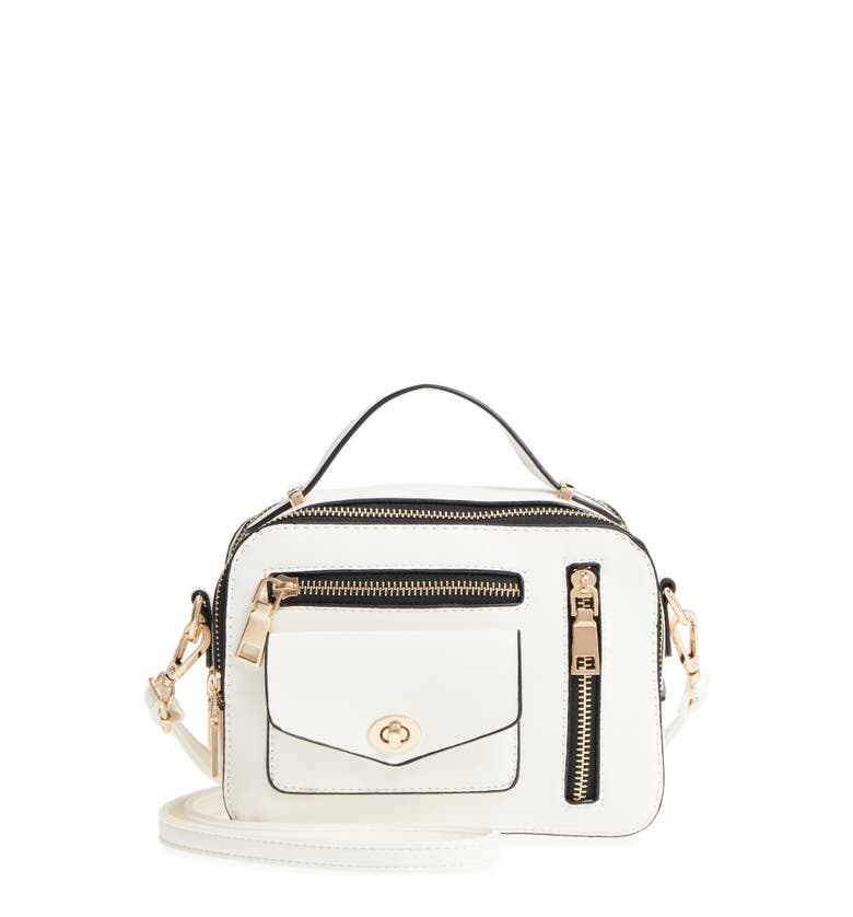 87408f838 Shoptagr | Multi Zip Faux Leather Boxy Crossbody Bag by Yoki Bags