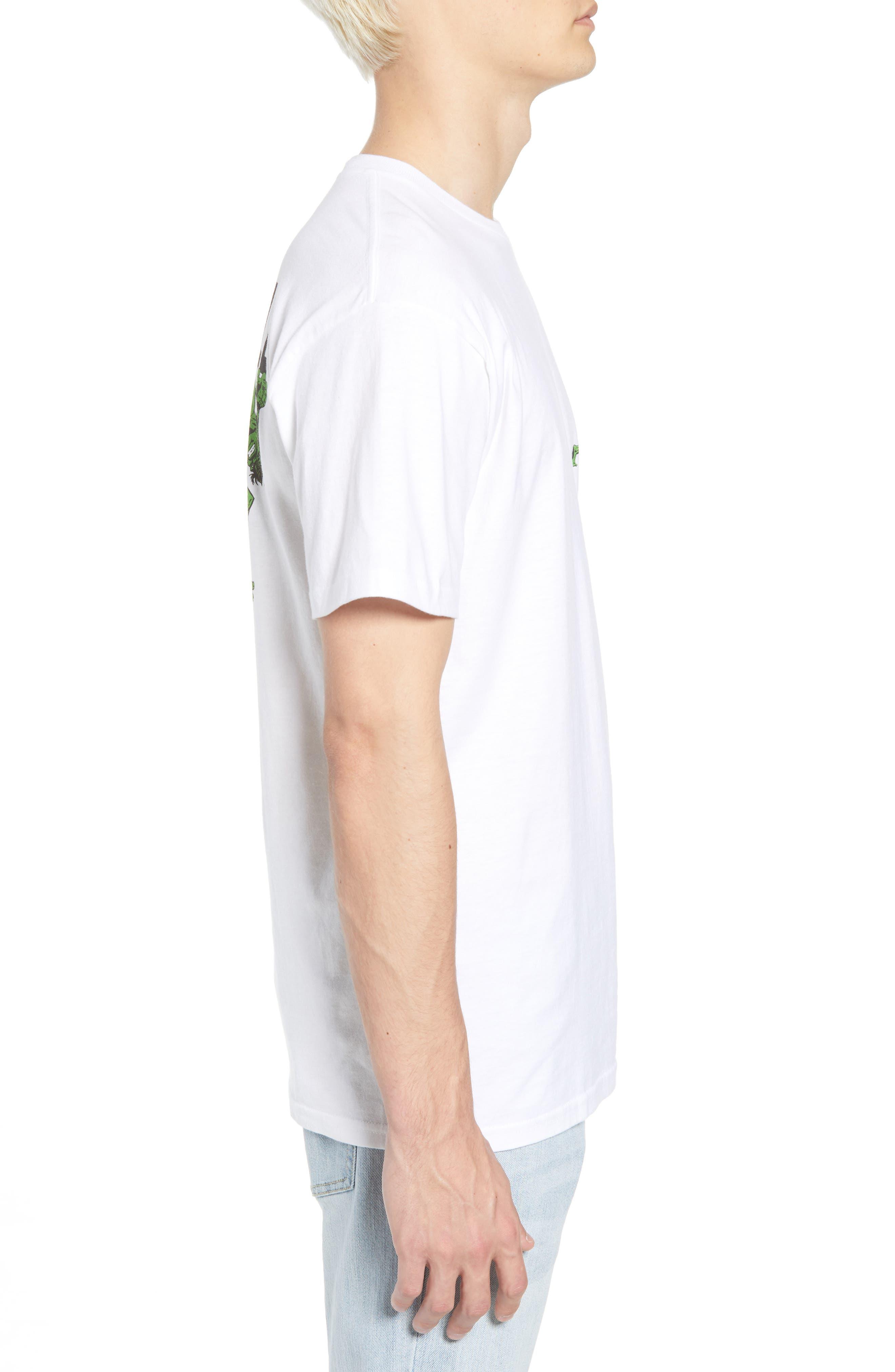 x Marvel<sup>®</sup> Hulk T-Shirt,                             Alternate thumbnail 3, color,                             White