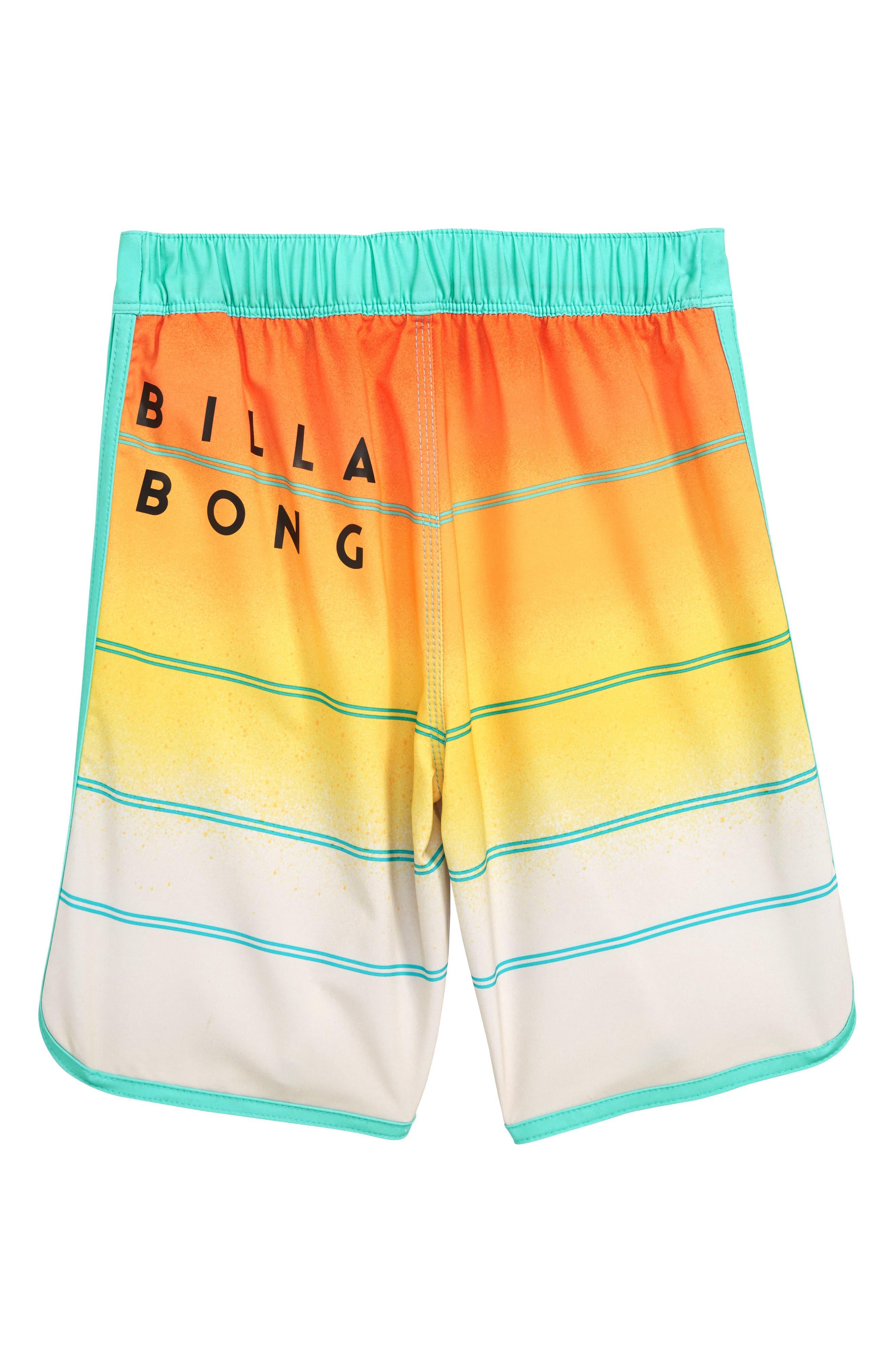 73 X Stripe Board Shorts,                             Alternate thumbnail 2, color,                             Yellow