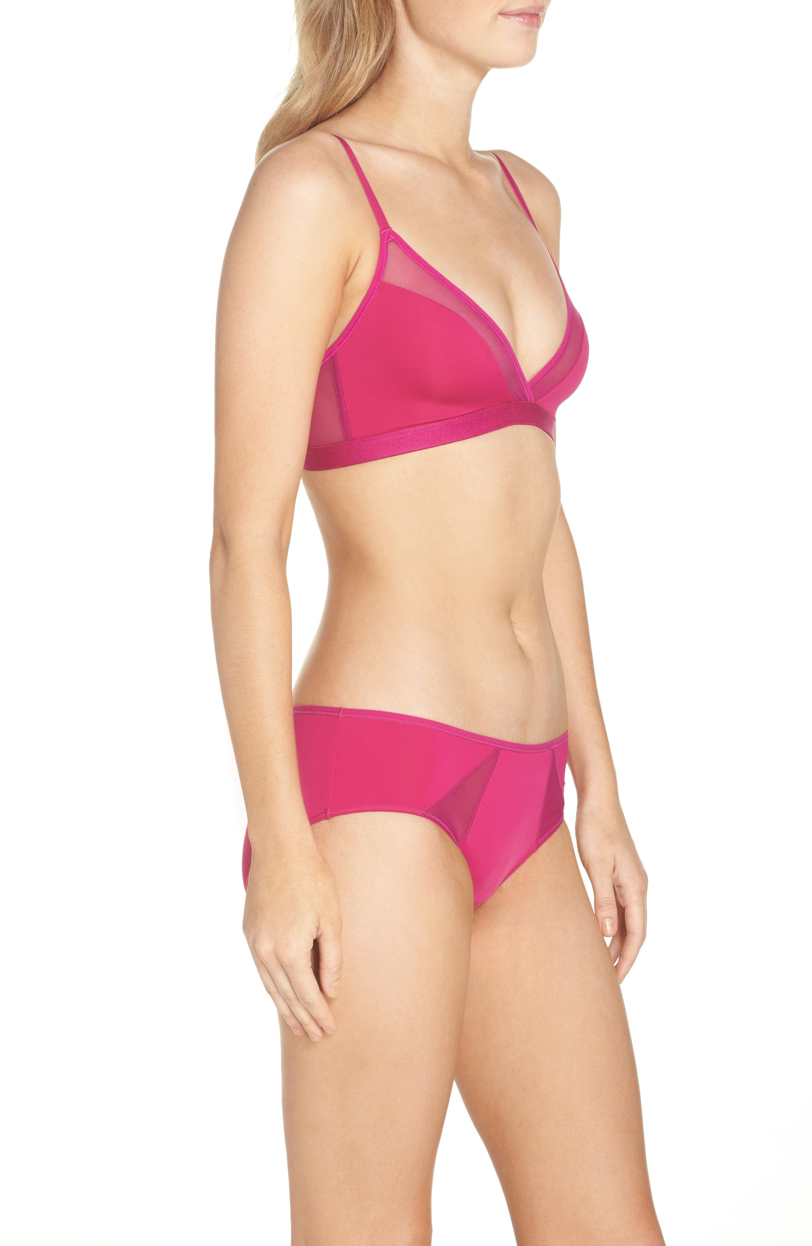 Highlight Wireless Bra,                             Alternate thumbnail 6, color,                             Wild Orchid