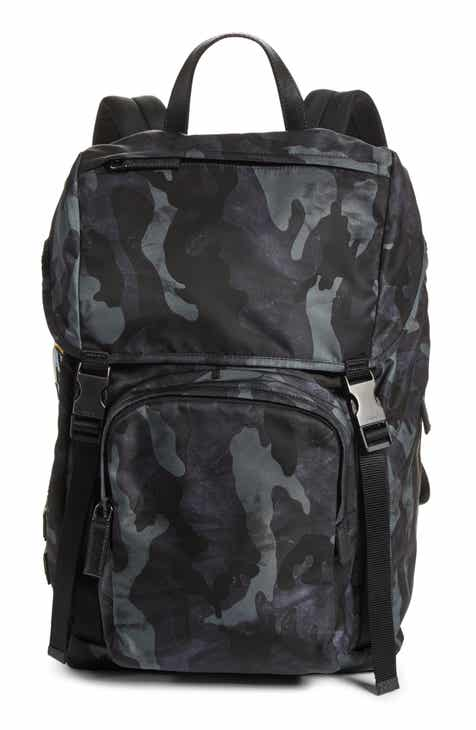 171518157274 Prada Tessuto Camo Nylon Backpack