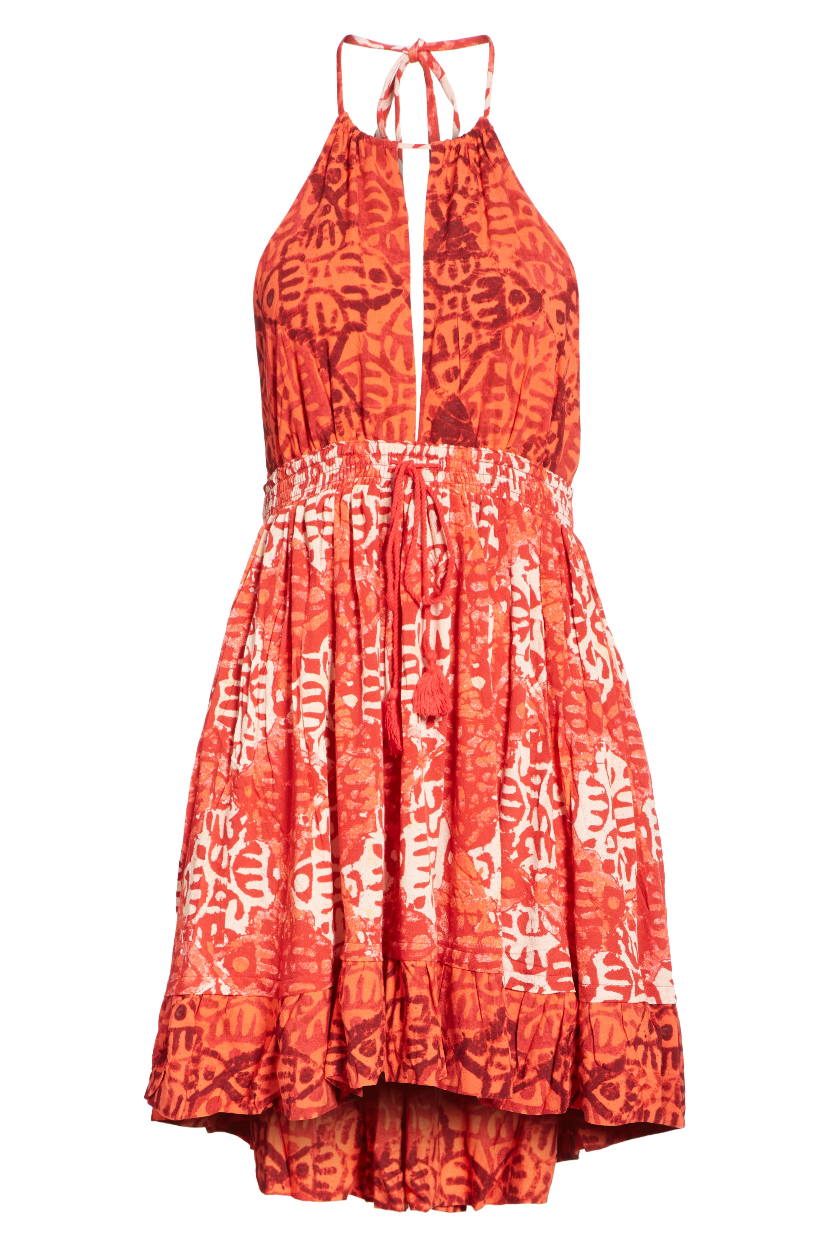 Beach Day Minidress,                             Alternate thumbnail 6, color,                             Red