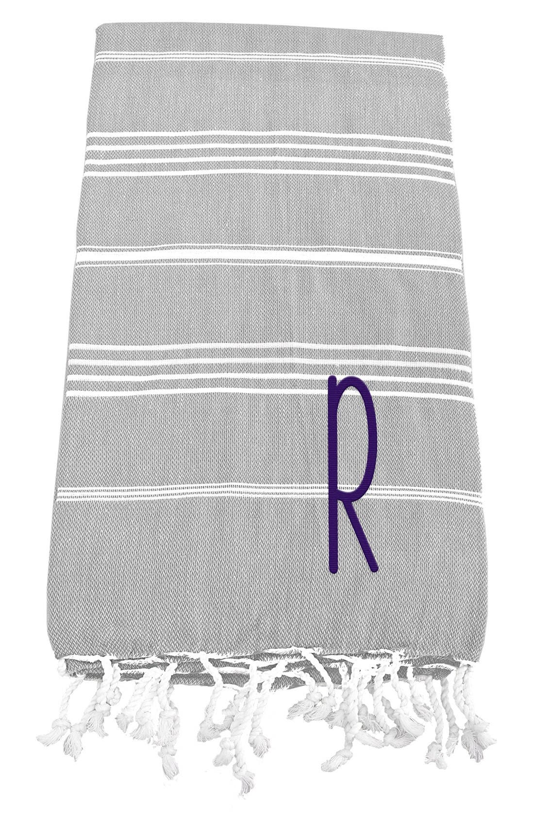 Alternate Image 1 Selected - Cathy's Concepts Monogram Turkish Cotton Towel