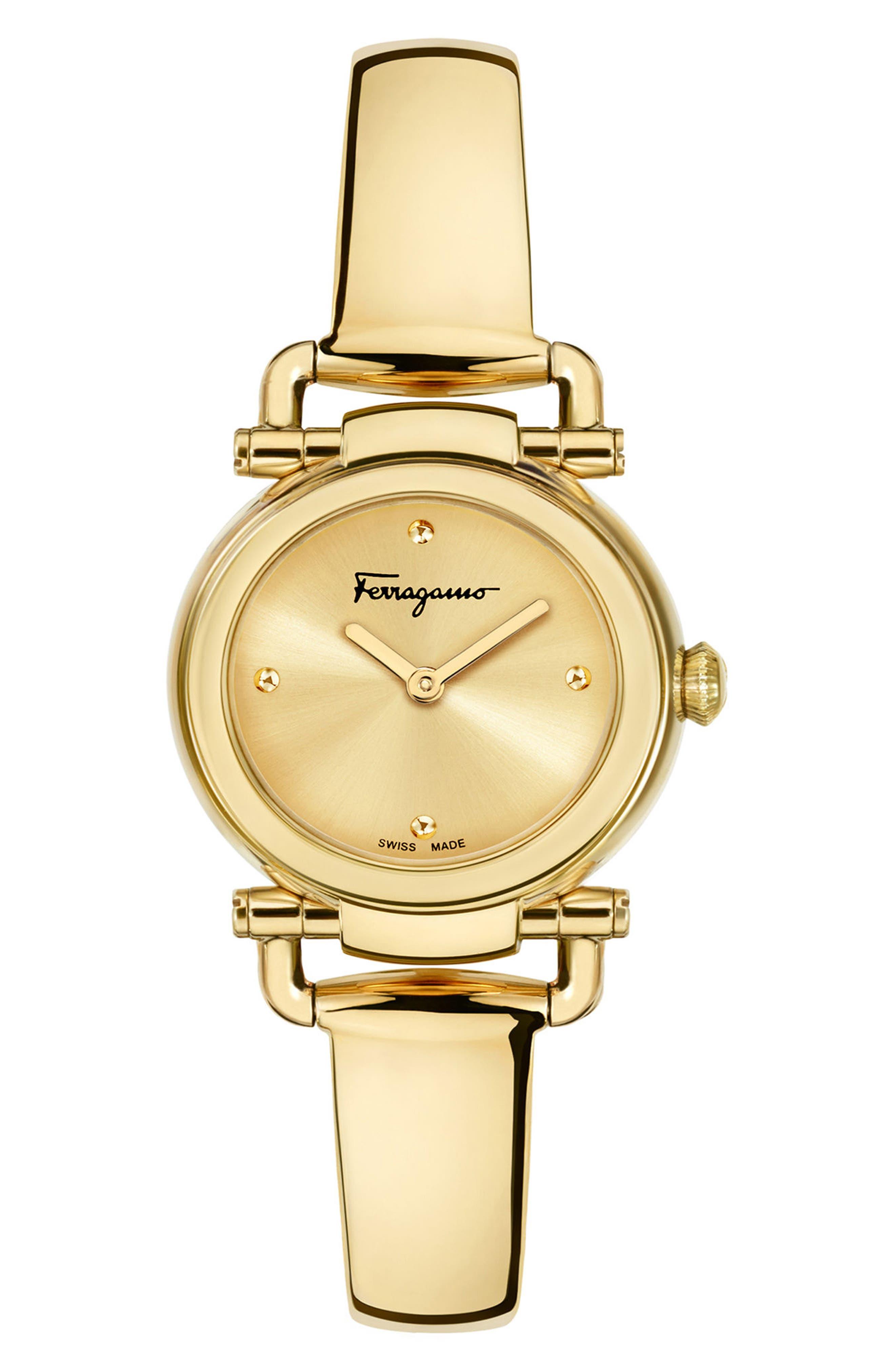 Gancino Bangle Watch, 26mm,                             Main thumbnail 1, color,                             Gold