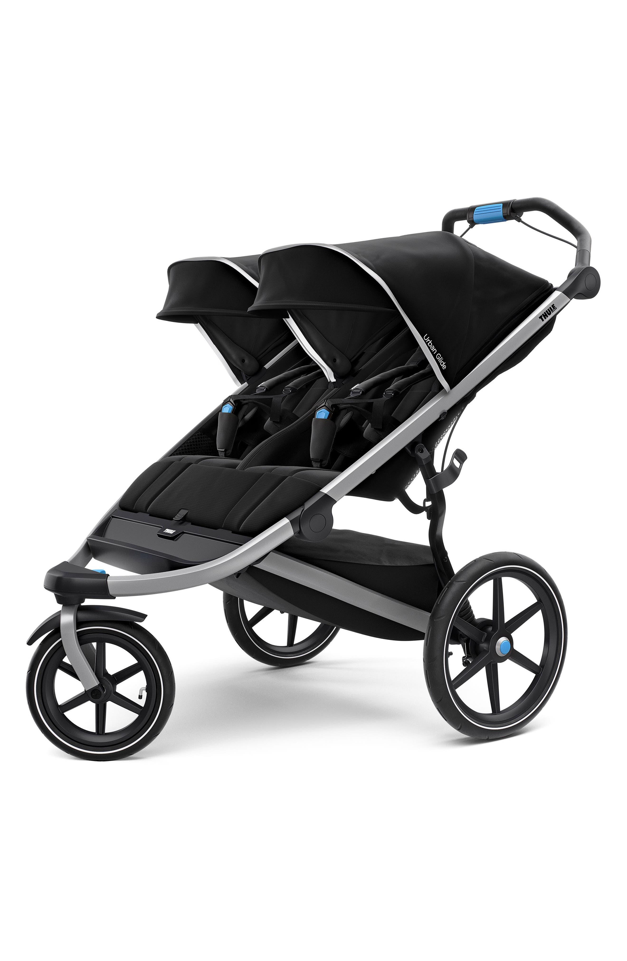 Urban Glide 2 Double Jogging Stroller On-the-Go Bundle,                         Main,                         color, Black