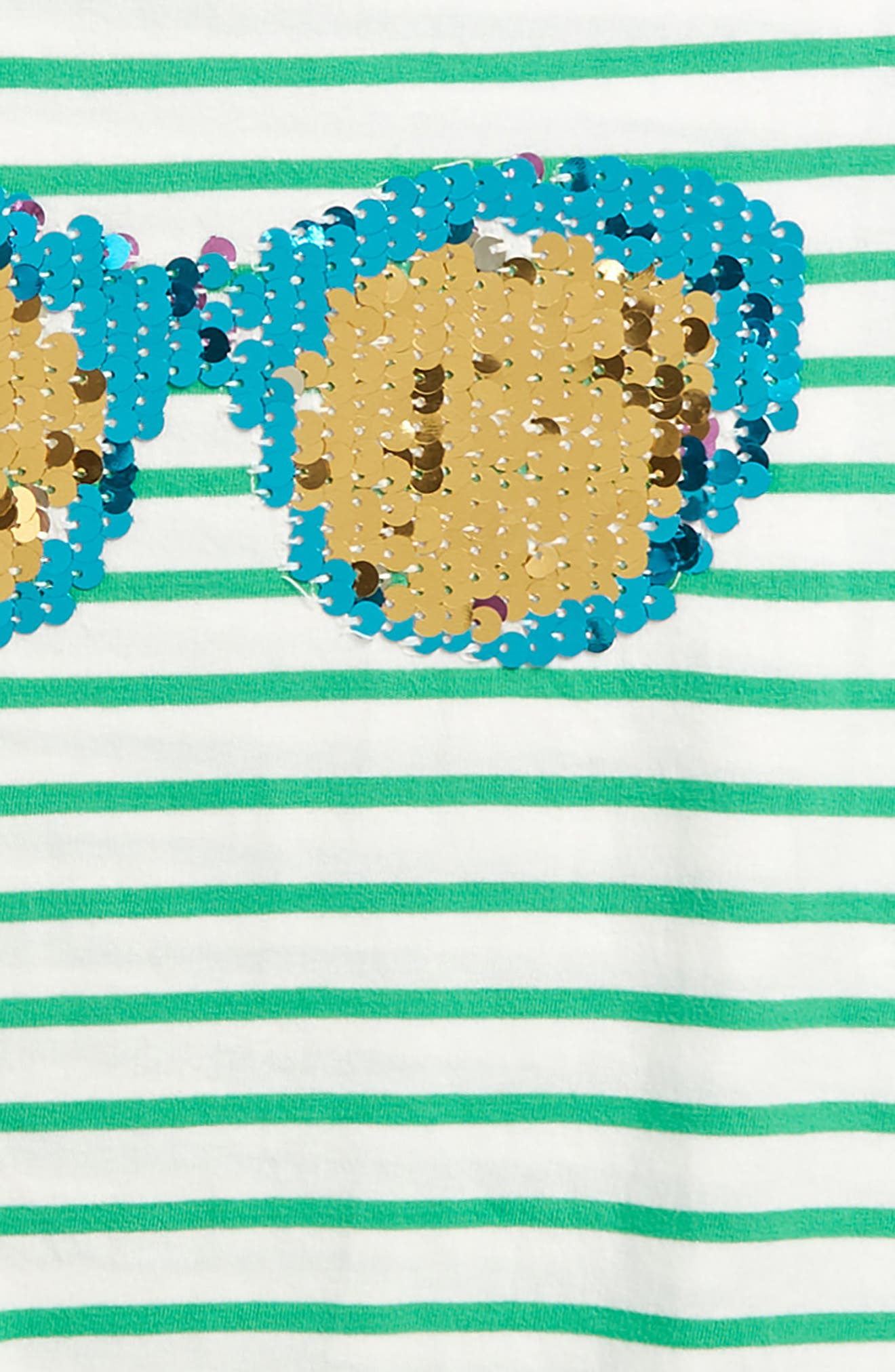 Sunny Sequin Tee,                             Alternate thumbnail 3, color,                             Grnivory/ Peppermint Green