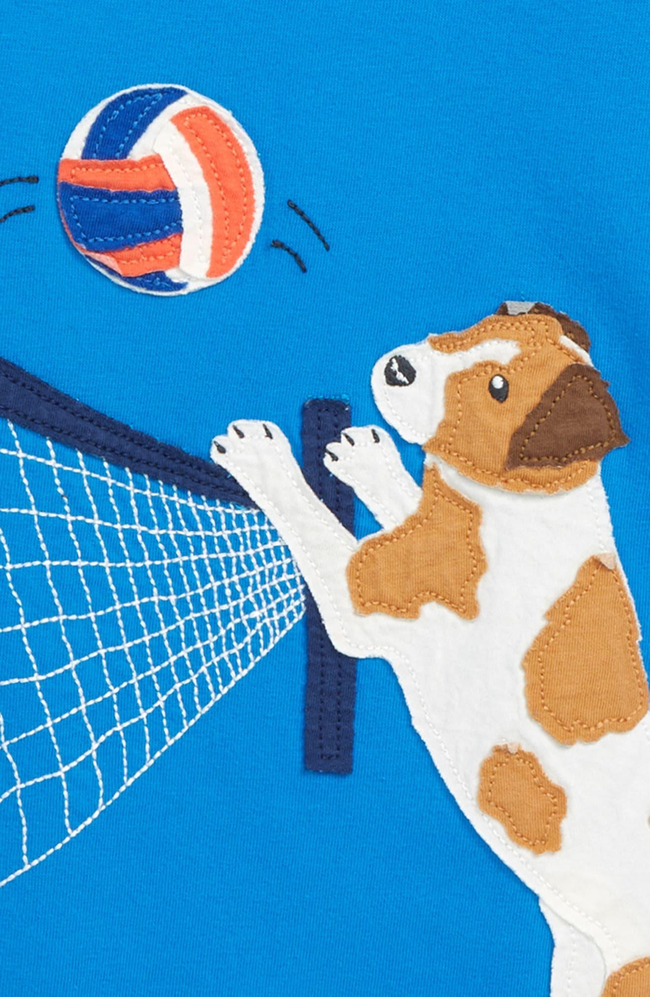 Beach Sports Appliqué T-Shirt,                             Alternate thumbnail 2, color,                             Yogo Blue Volleyball