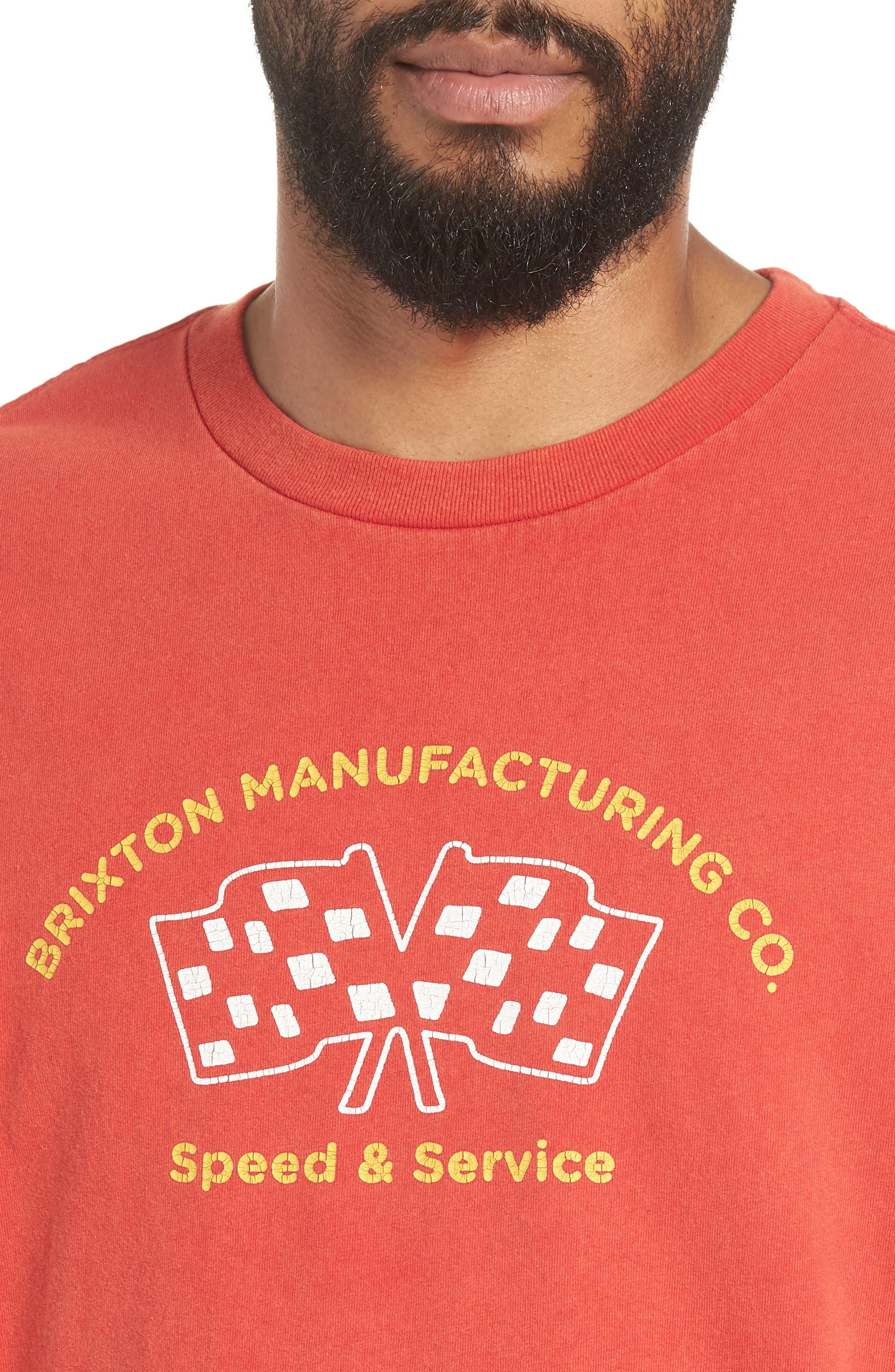 Burnout Graphic T-Shirt,                             Alternate thumbnail 4, color,                             Cayenne