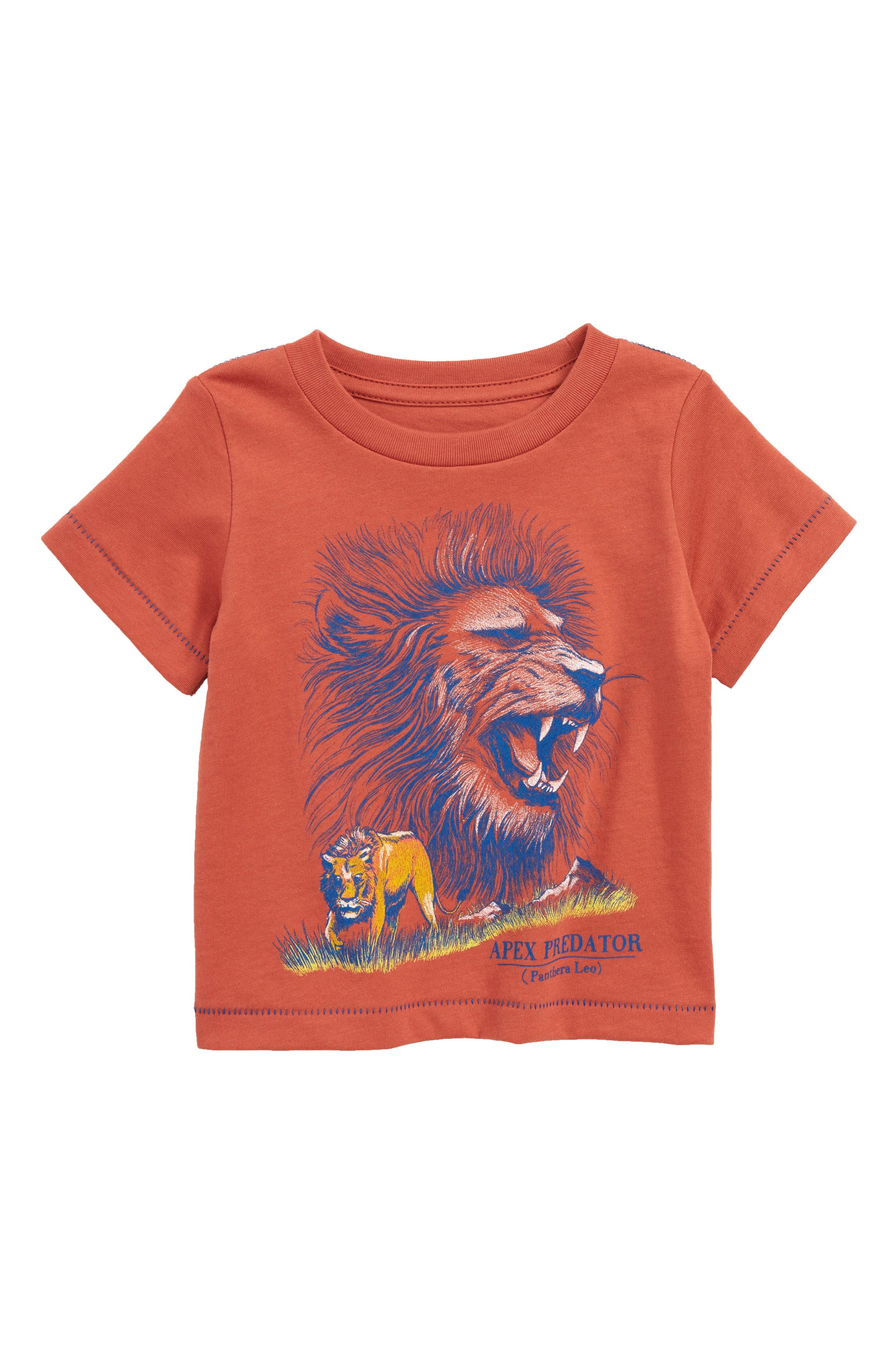 Lion Graphic T-Shirt,                         Main,                         color, Rust