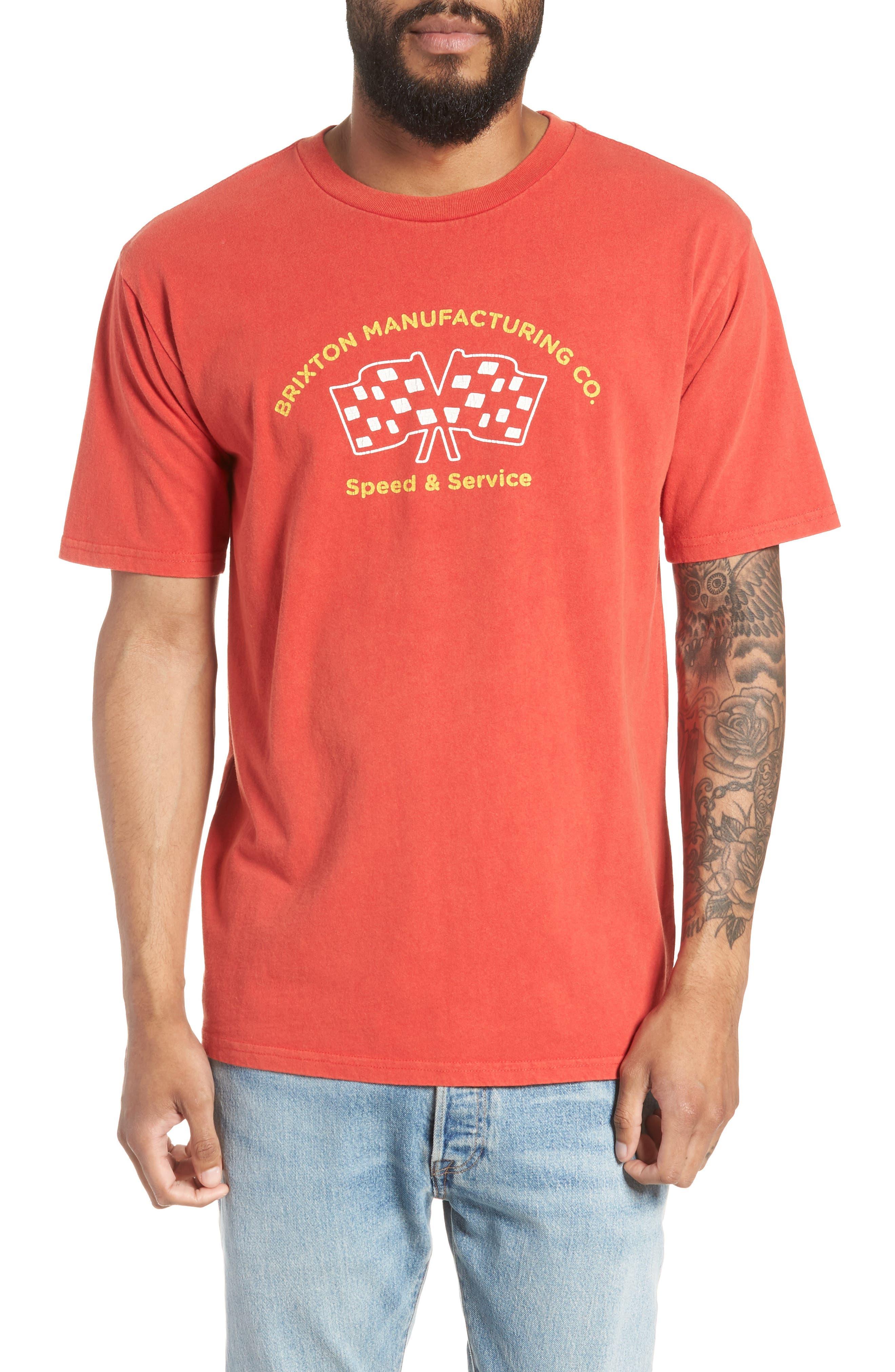 Burnout Graphic T-Shirt,                         Main,                         color, Cayenne