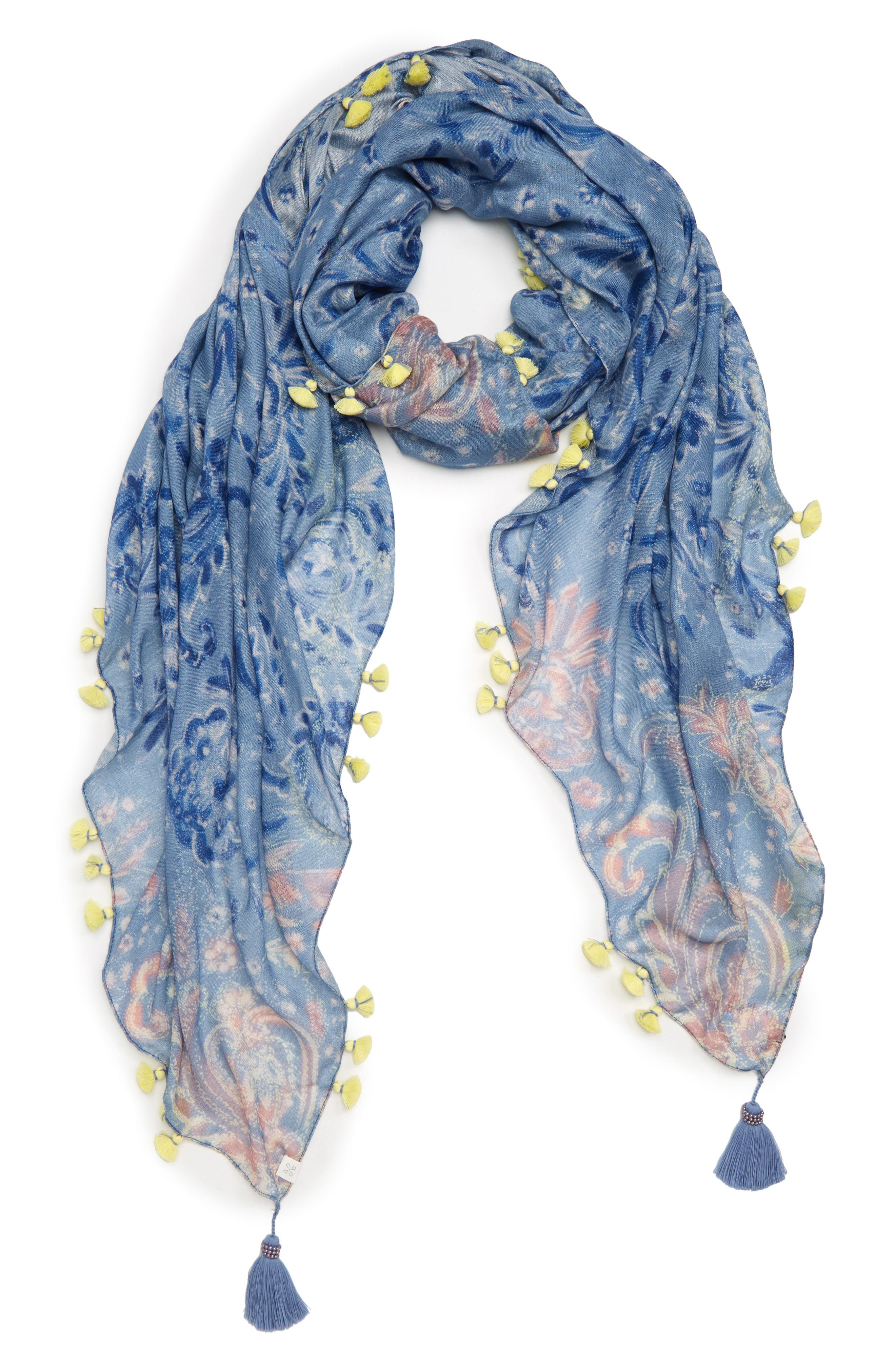 Print Pareo,                         Main,                         color, Blue Desert Paisley