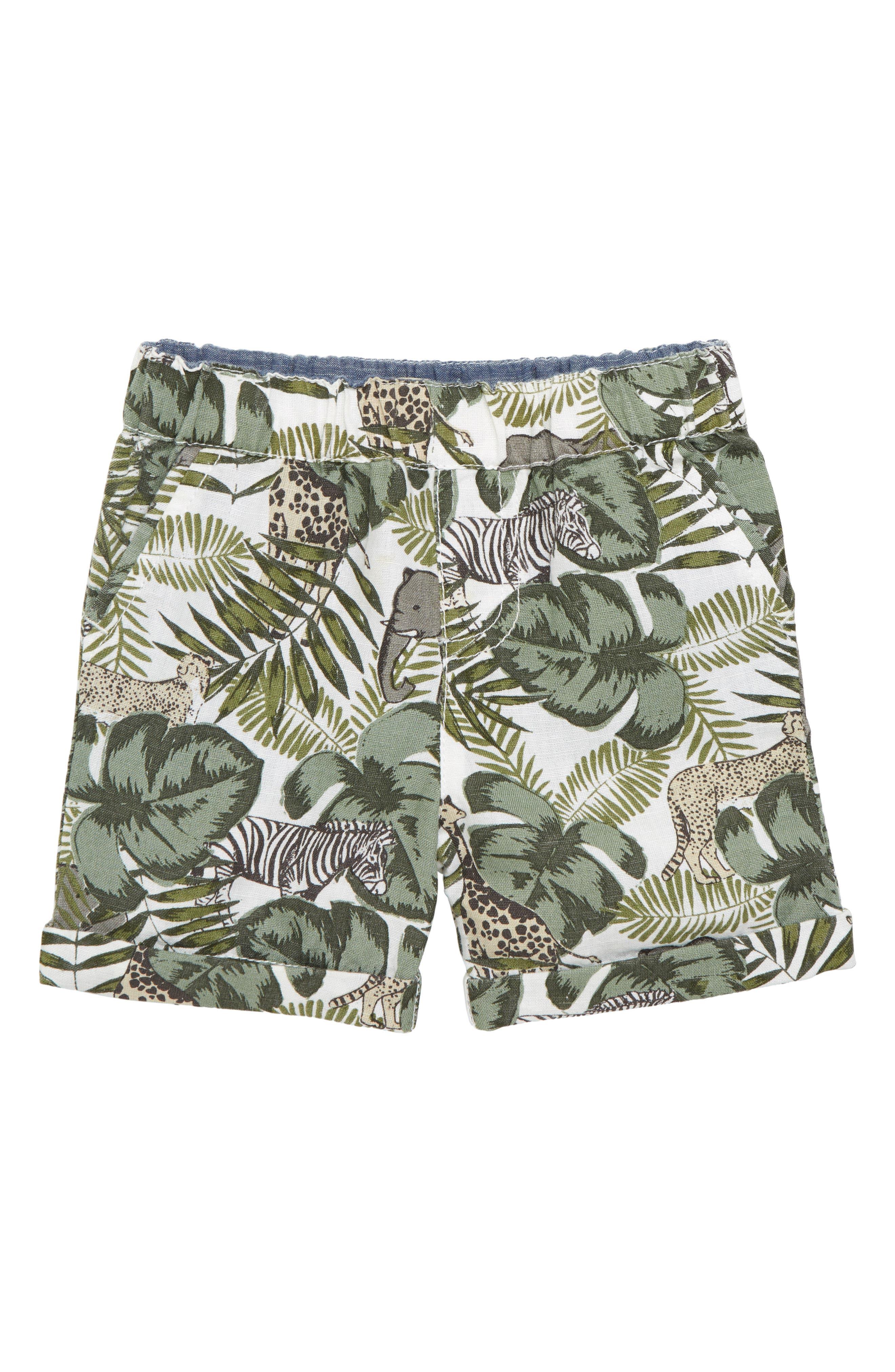 Animal Camo Shorts,                             Main thumbnail 1, color,                             Olive