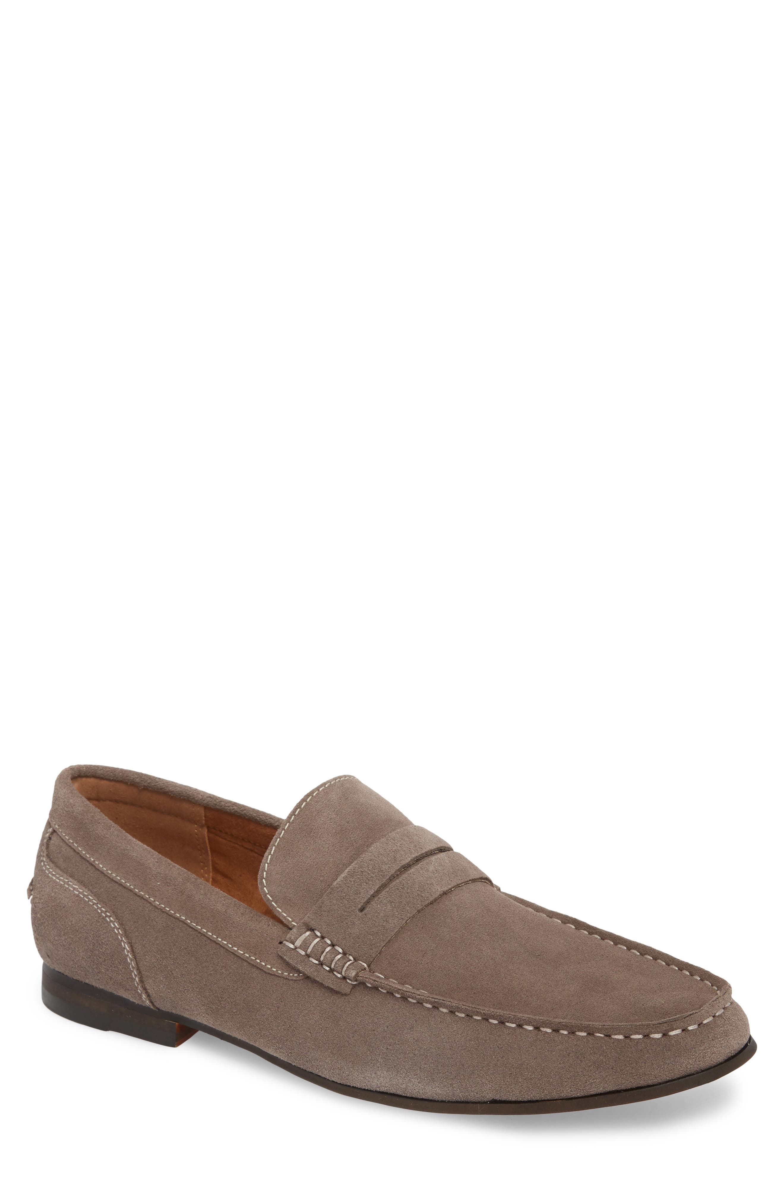 Crespo Penny Loafer,                         Main,                         color, Grey
