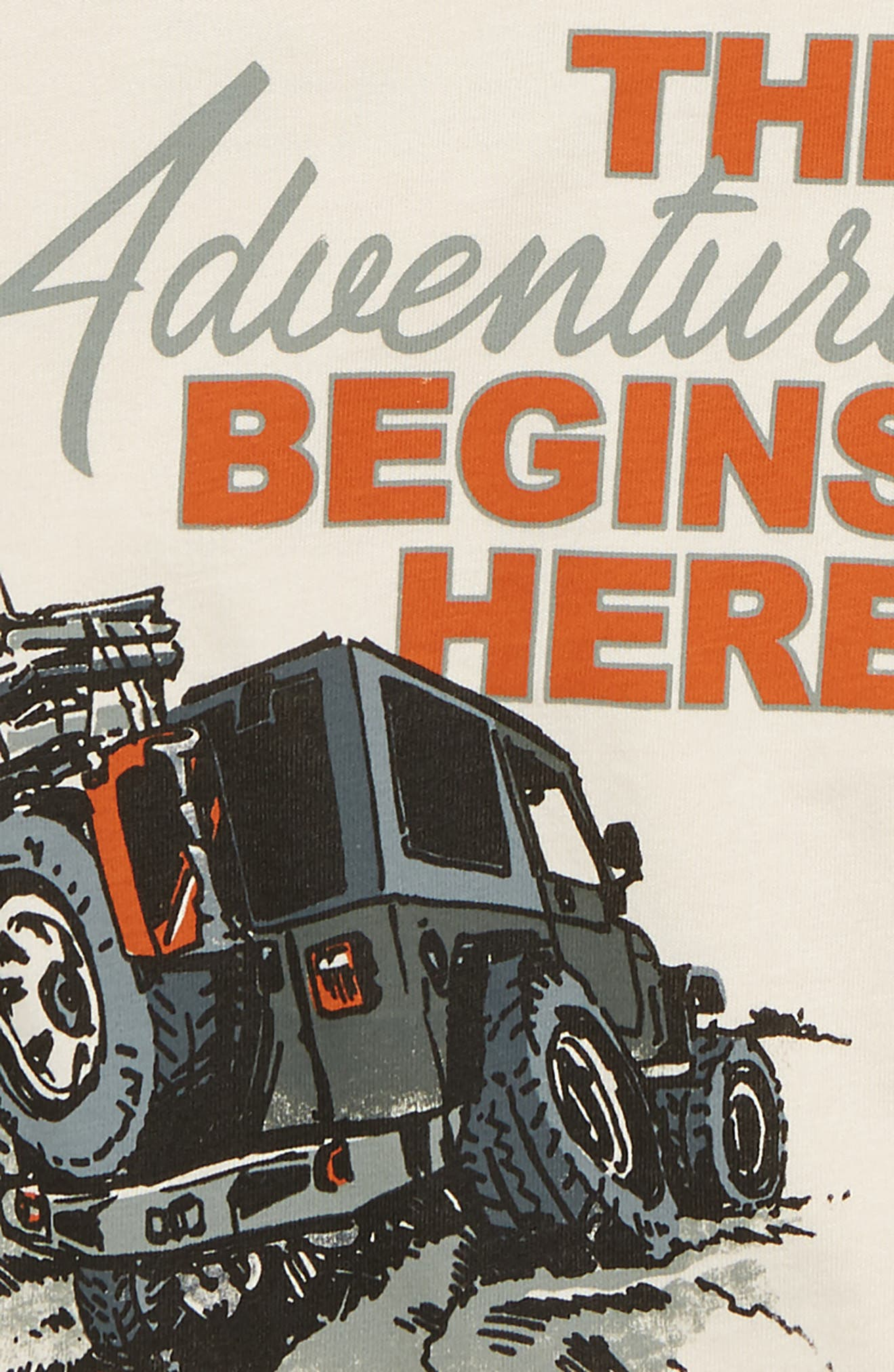 The Adventure Begins Here Graphic T-Shirt,                             Alternate thumbnail 2, color,                             Khaki