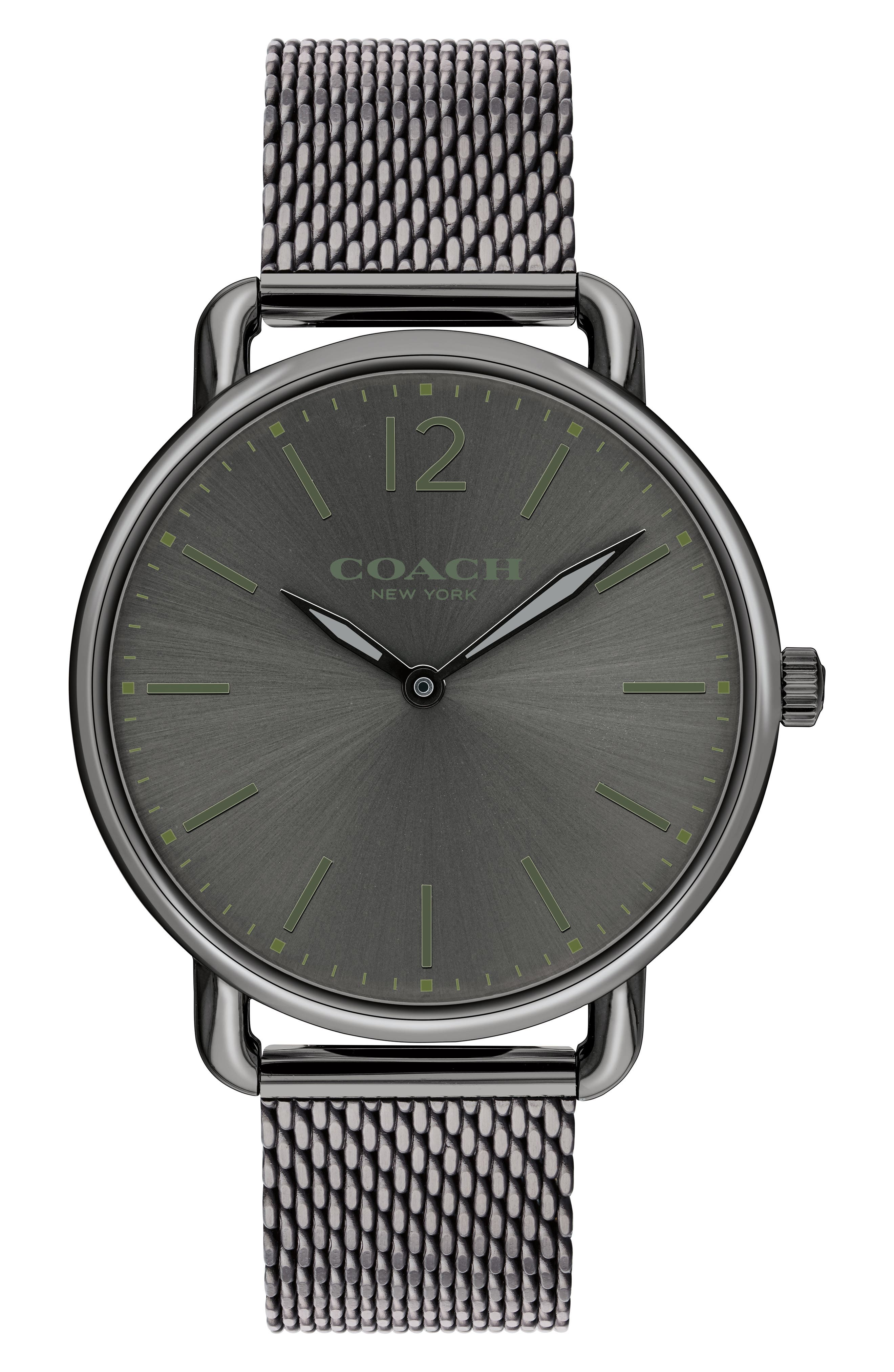 Delancey Mesh Strap Watch, 40mm,                         Main,                         color, Grey