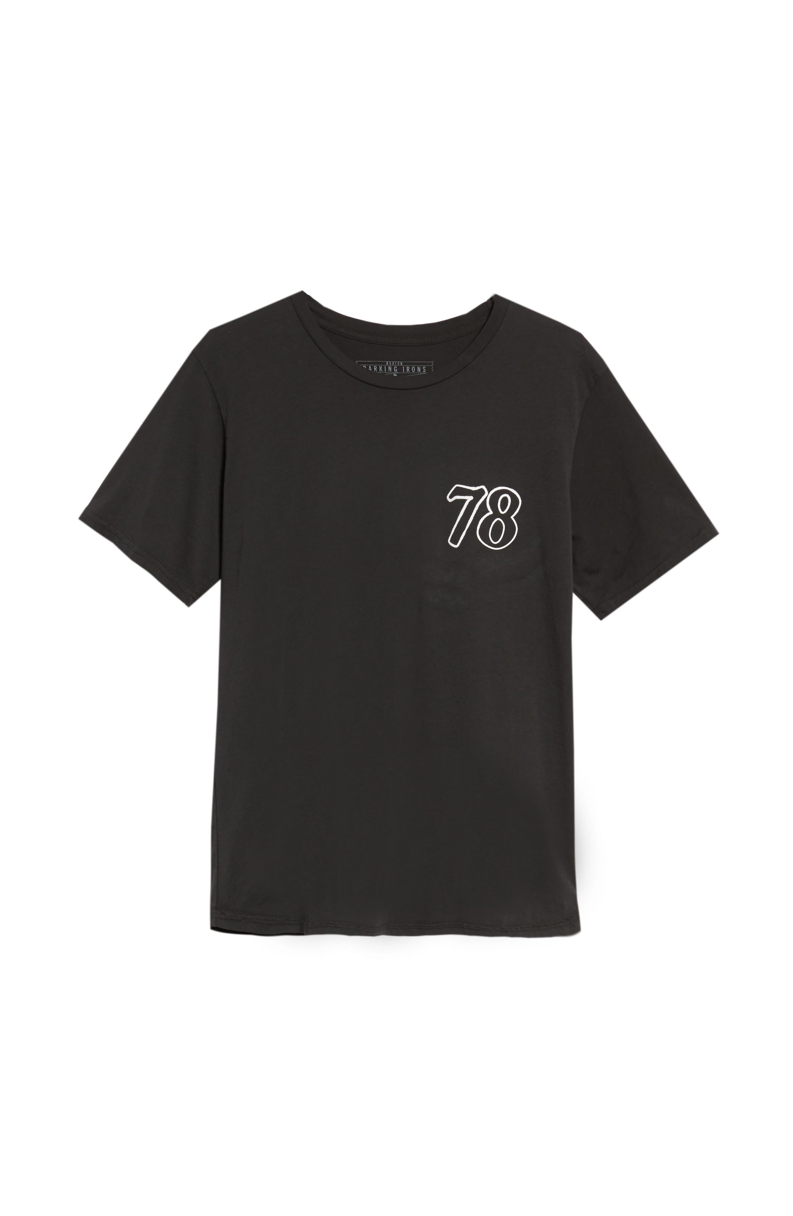 Only the Good Crewneck T-Shirt,                             Alternate thumbnail 6, color,                             Dusty Black
