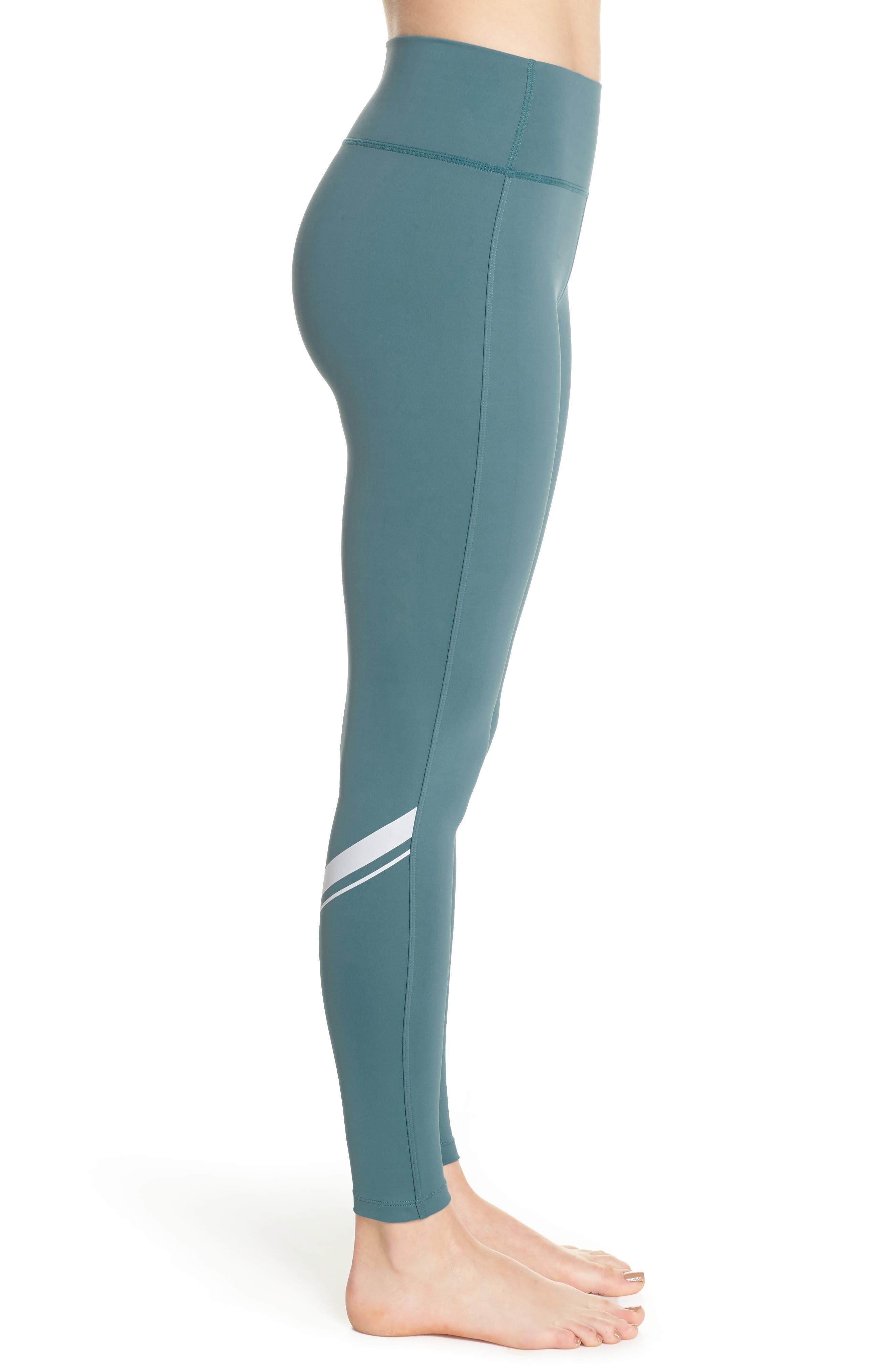 Horizon Ankle Leggings,                             Alternate thumbnail 3, color,                             Blue Surf/ Off White