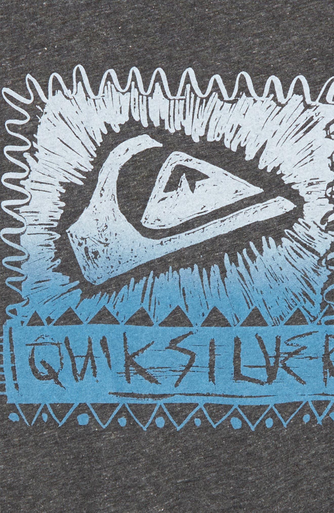 Lazer Cut Graphic T-Shirt,                             Alternate thumbnail 2, color,                             Charcoal Heather