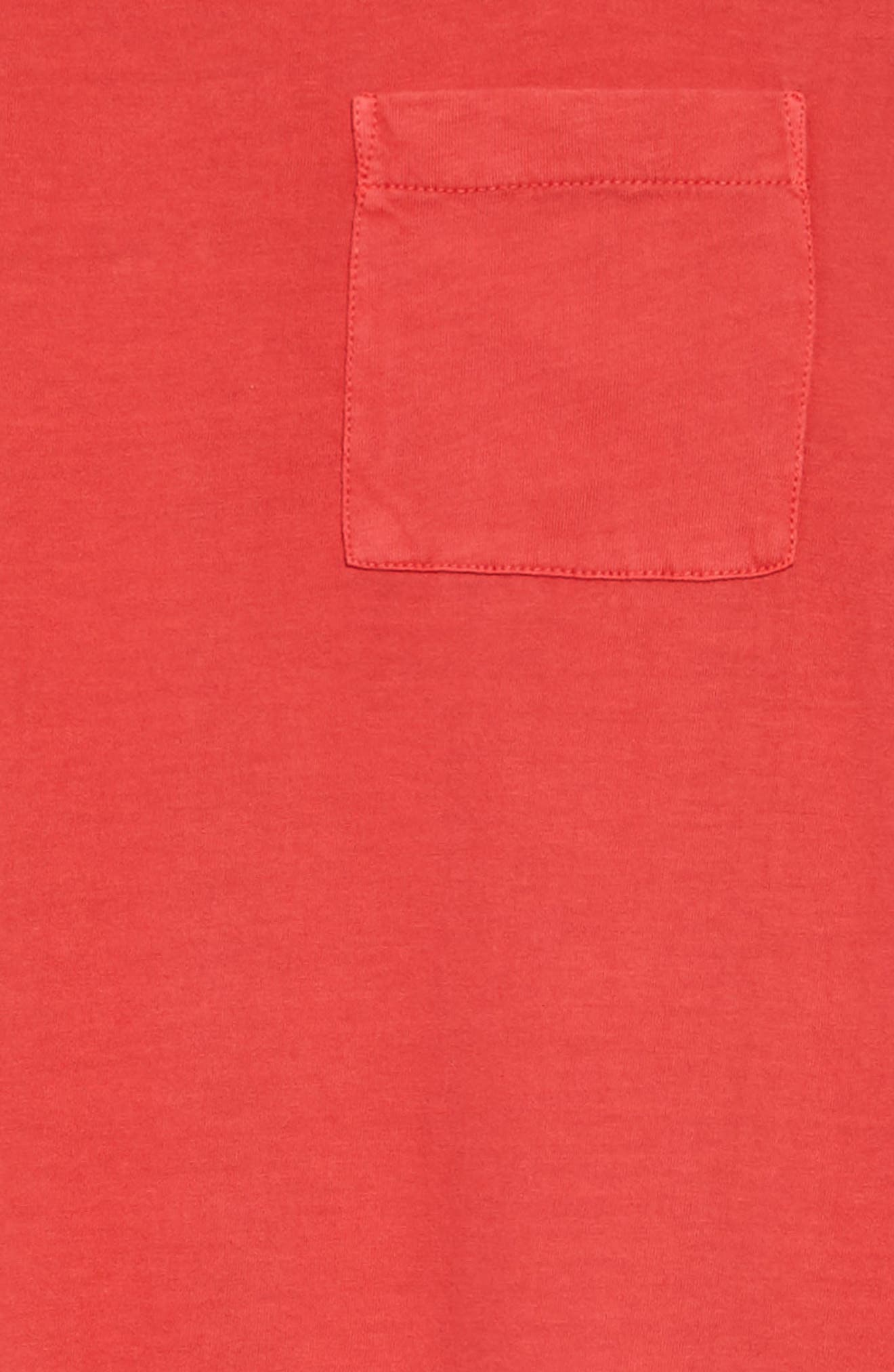 Washed T-Shirt Dress,                             Alternate thumbnail 3, color,                             Red Sage