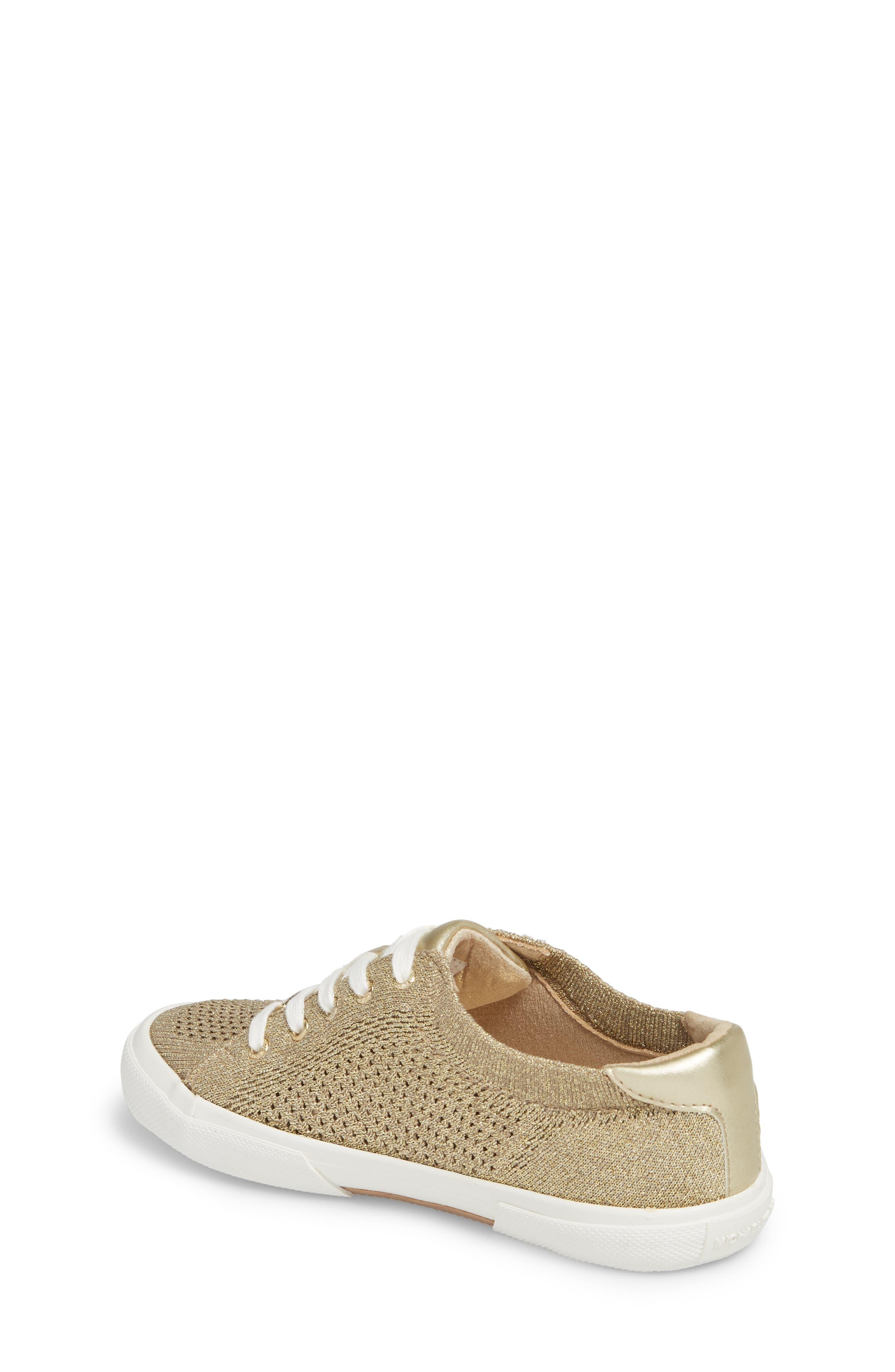 Ima Metallic Knit Sneaker,                             Alternate thumbnail 2, color,                             Gold
