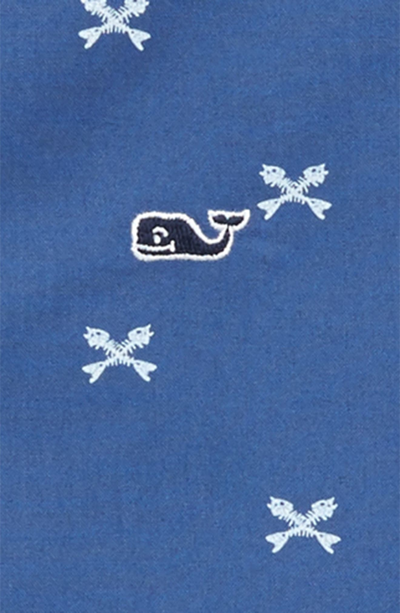 Crossed Fish Bone Short Sleeve Shirt,                             Alternate thumbnail 2, color,                             Moonshine