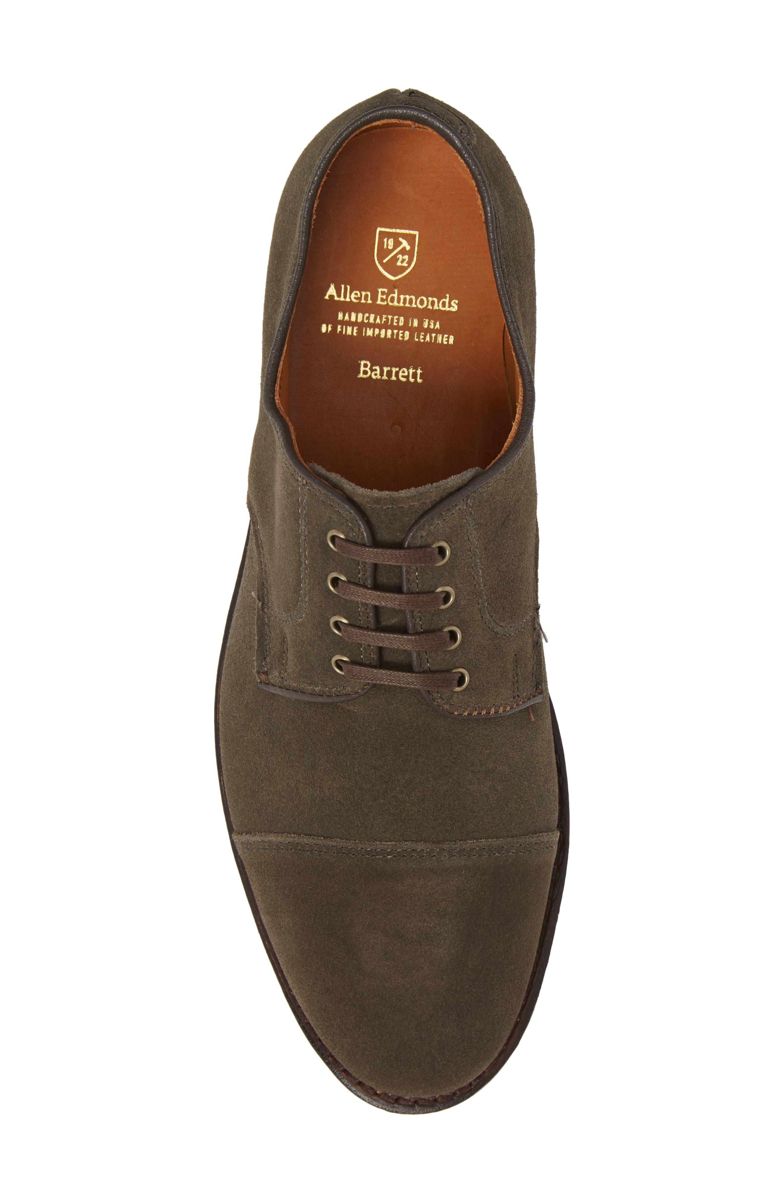 Barrett Cap Toe Derby,                             Alternate thumbnail 5, color,                             Slate Leather
