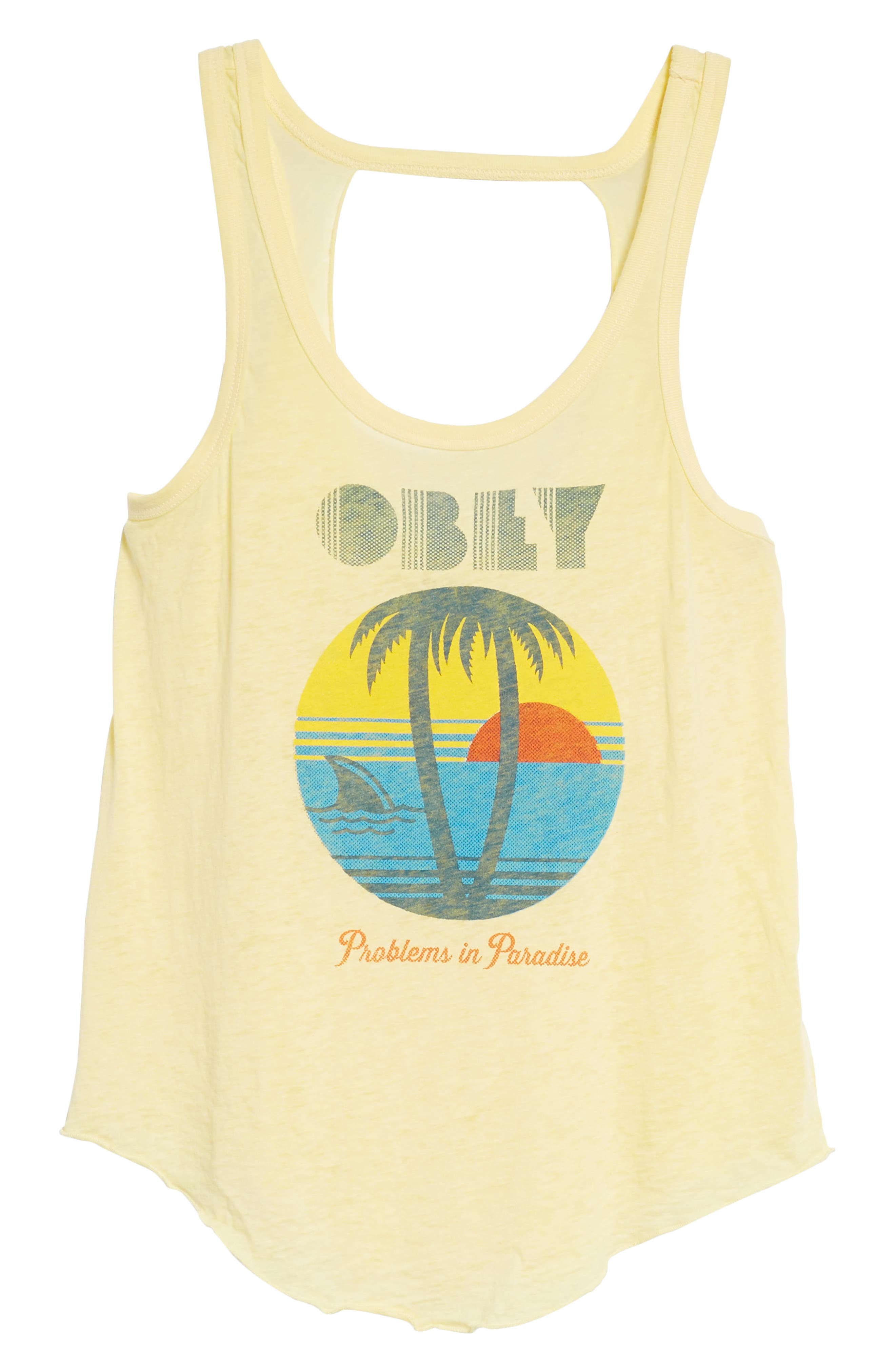 Problems in Paradise Graphic Tank,                             Alternate thumbnail 6, color,                             Yellow