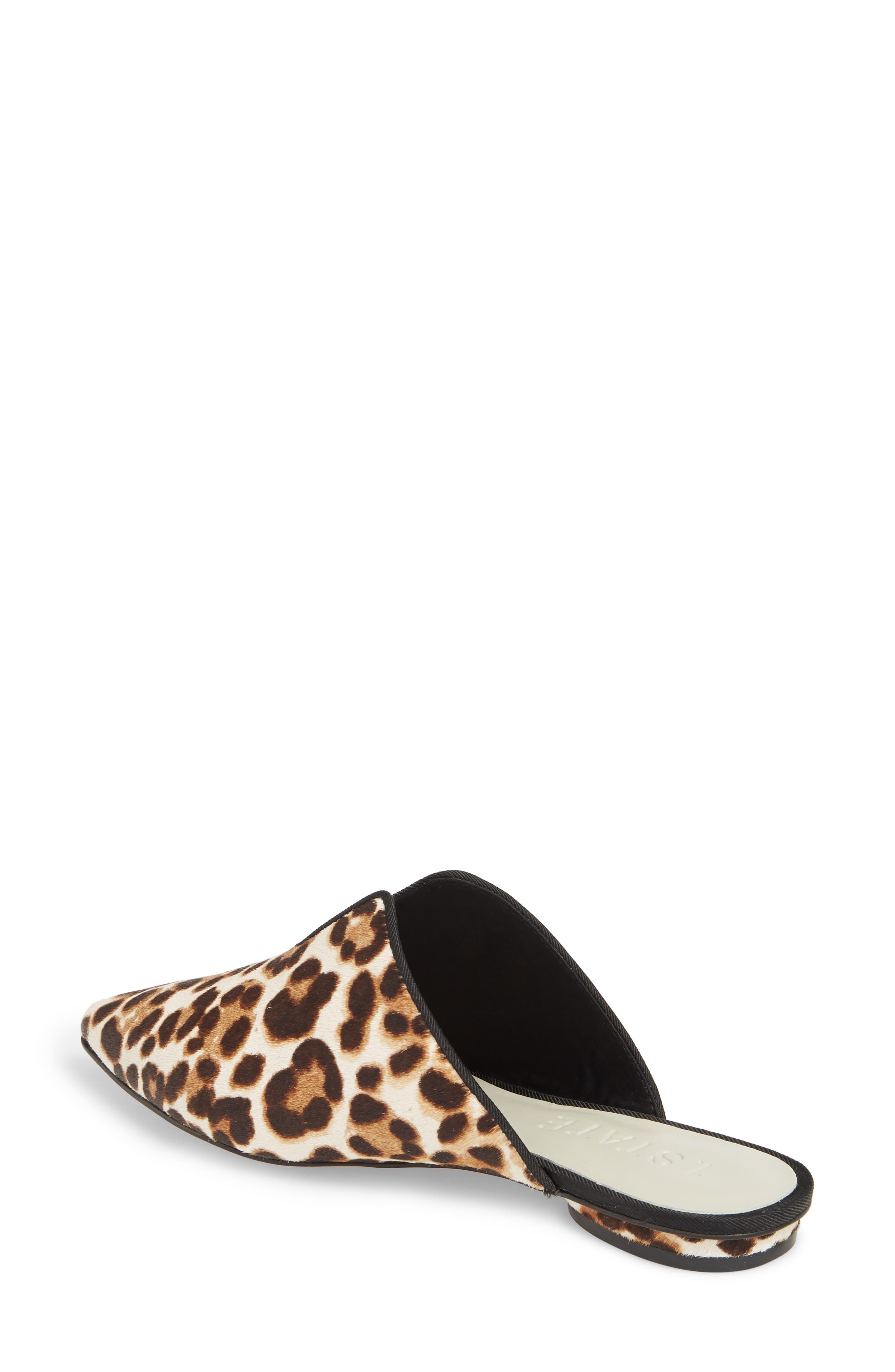 Genia Genuine Calf Hair Mule,                             Alternate thumbnail 2, color,                             Cheetah/ Black Calf Hair